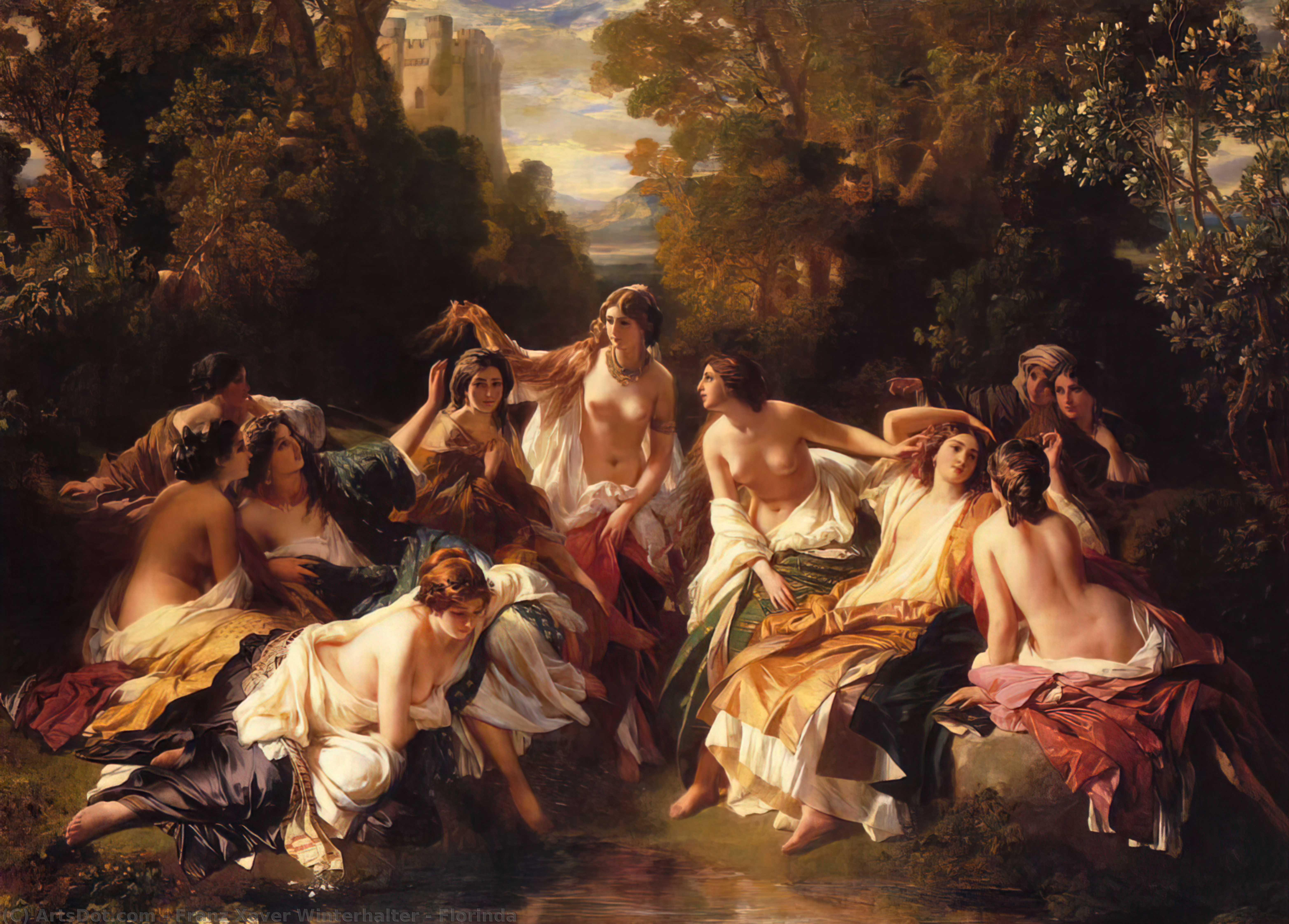 Wikioo.org - The Encyclopedia of Fine Arts - Painting, Artwork by Franz Xaver Winterhalter - Florinda