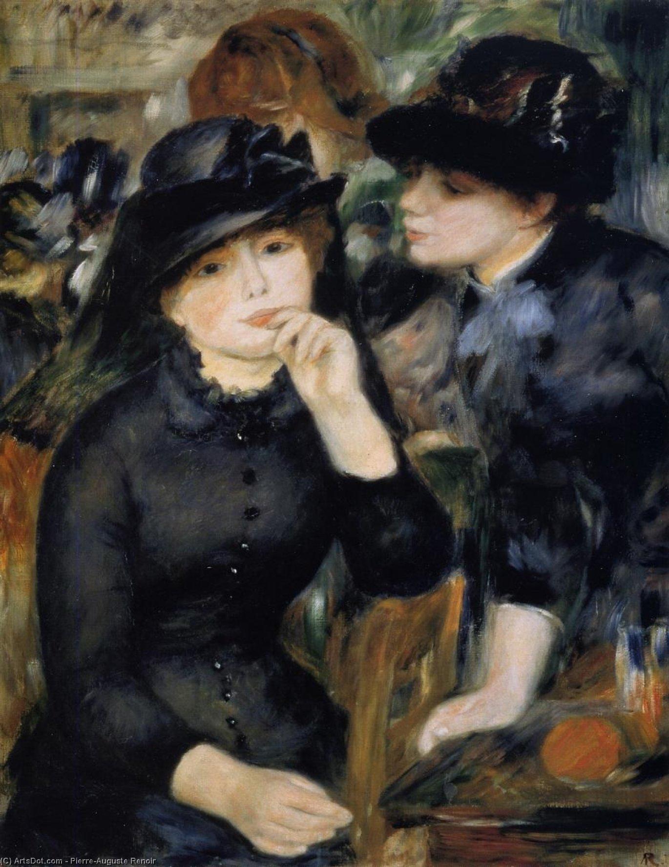 Wikioo.org - The Encyclopedia of Fine Arts - Painting, Artwork by Pierre-Auguste Renoir - Girls in Black