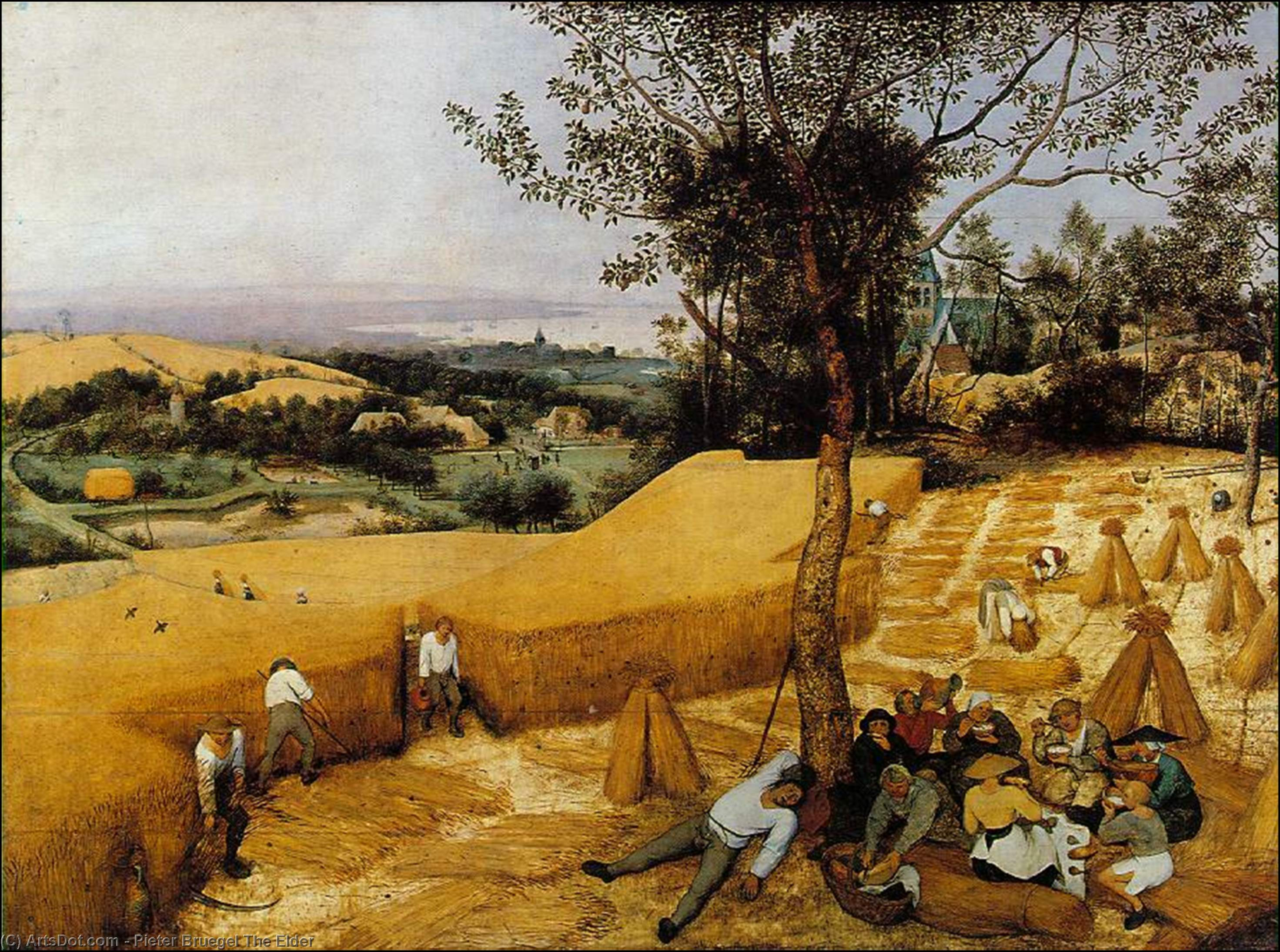 Wikioo.org - The Encyclopedia of Fine Arts - Painting, Artwork by Pieter Bruegel The Elder - The Harvesters