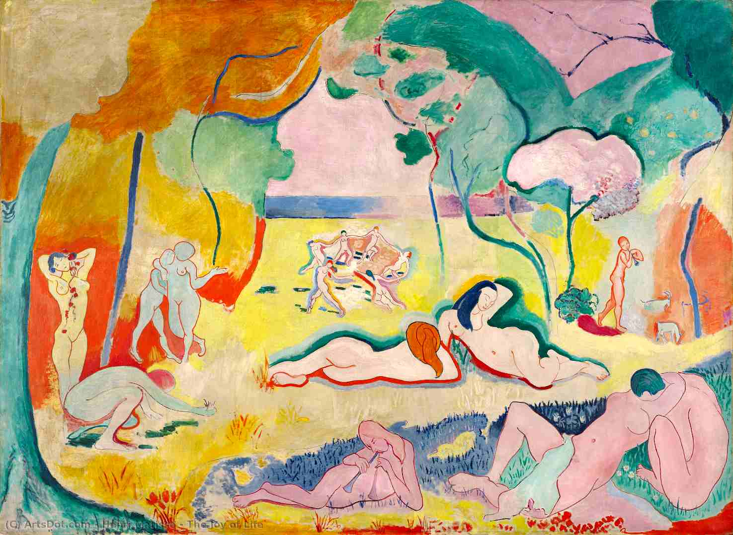 Wikioo.org - The Encyclopedia of Fine Arts - Painting, Artwork by Henri Matisse - The Joy of Life