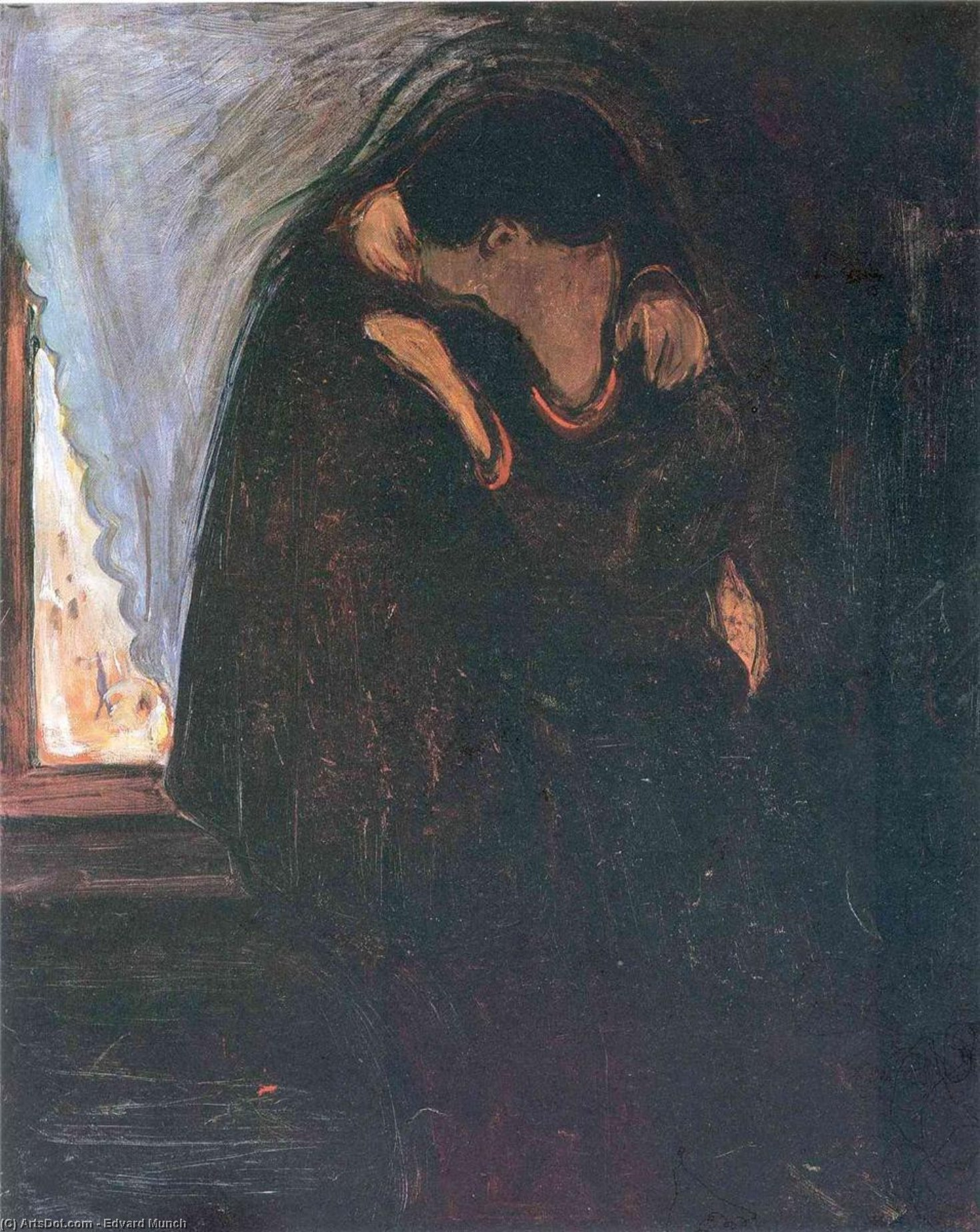 Wikioo.org - The Encyclopedia of Fine Arts - Painting, Artwork by Edvard Munch - Kiss