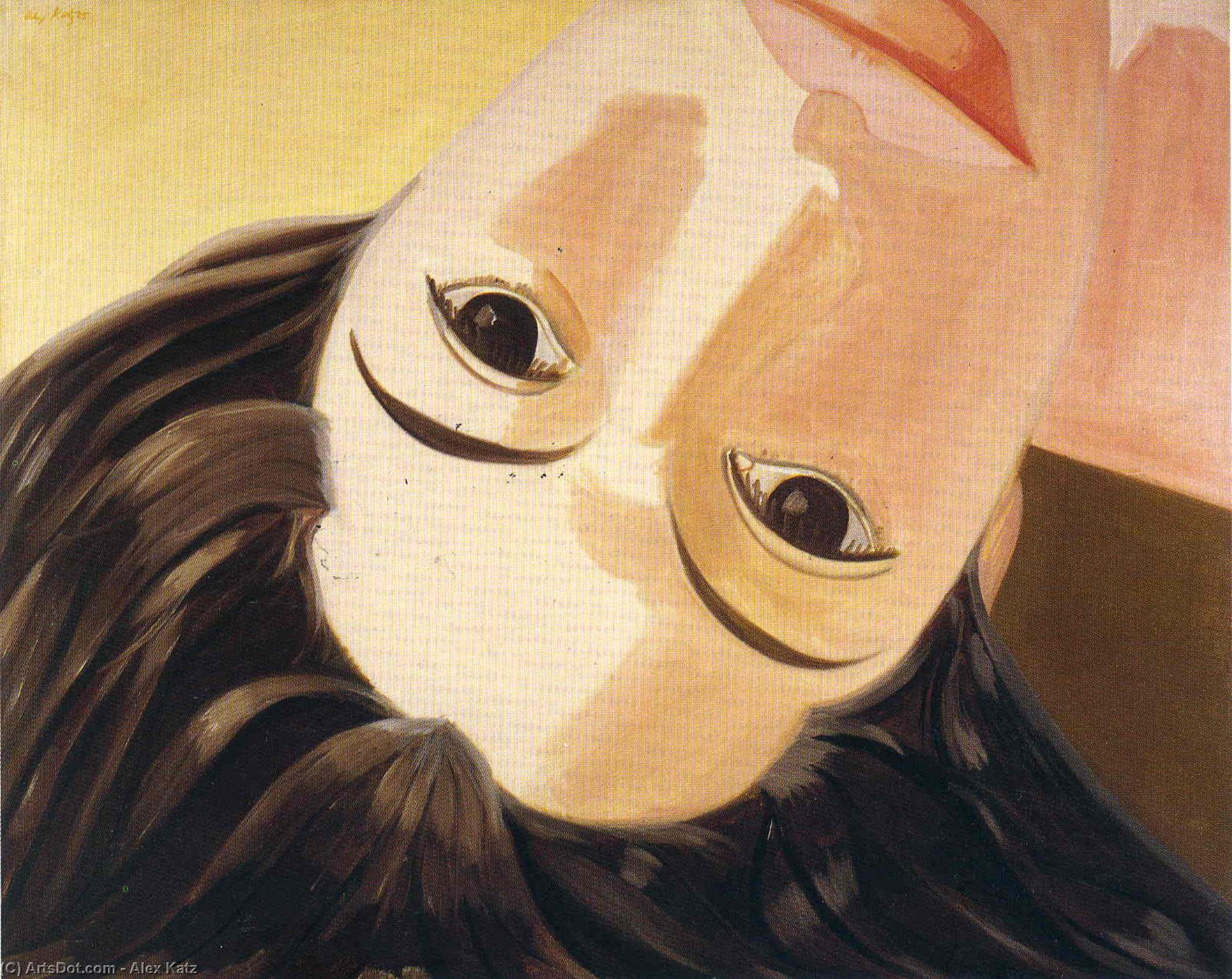 Wikioo.org - The Encyclopedia of Fine Arts - Painting, Artwork by Alex Katz - Upside Down Ada