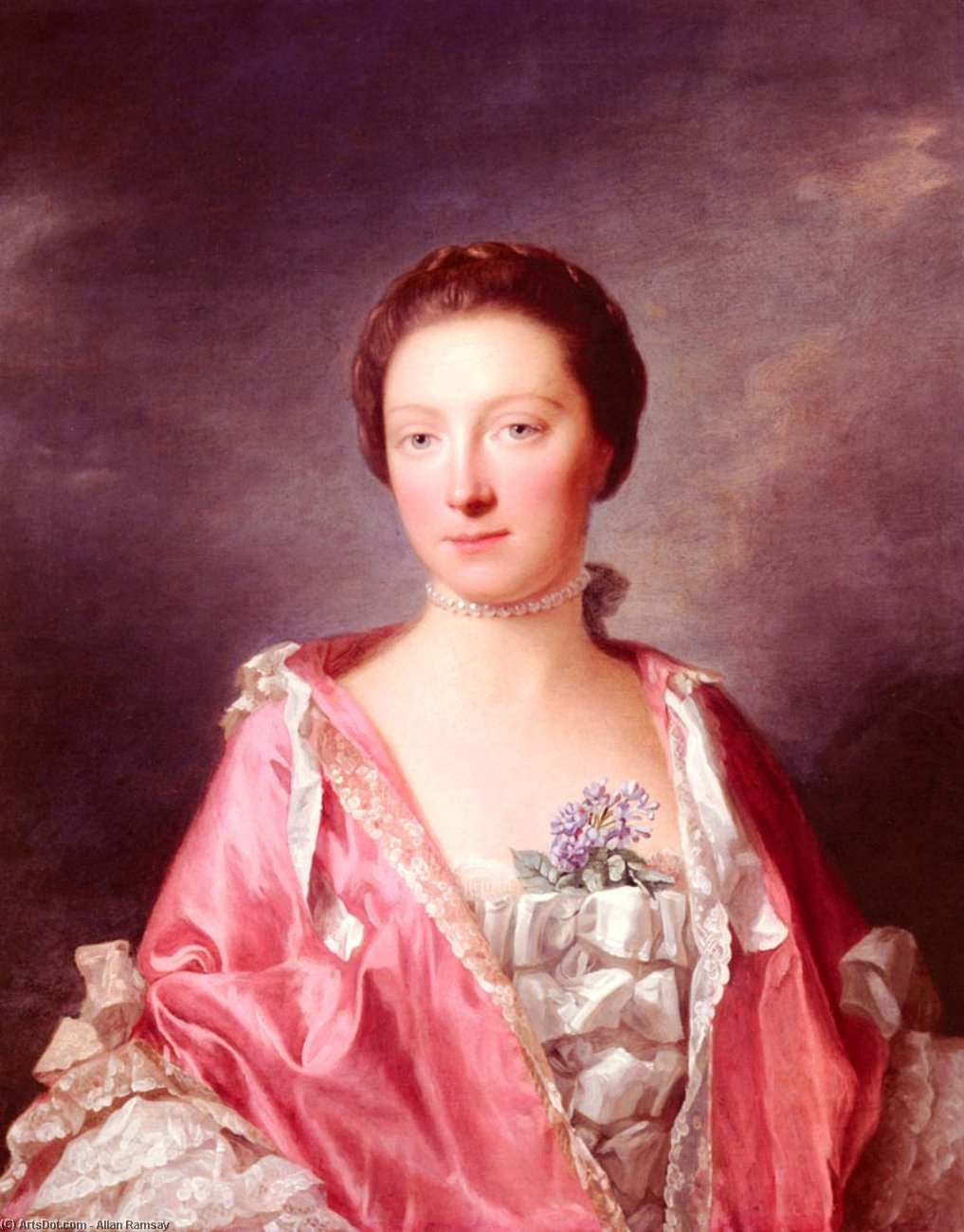 Wikioo.org - The Encyclopedia of Fine Arts - Painting, Artwork by Allan Ramsay - Portrait Of Elizabeth Gunning, Duchess Of Argyll