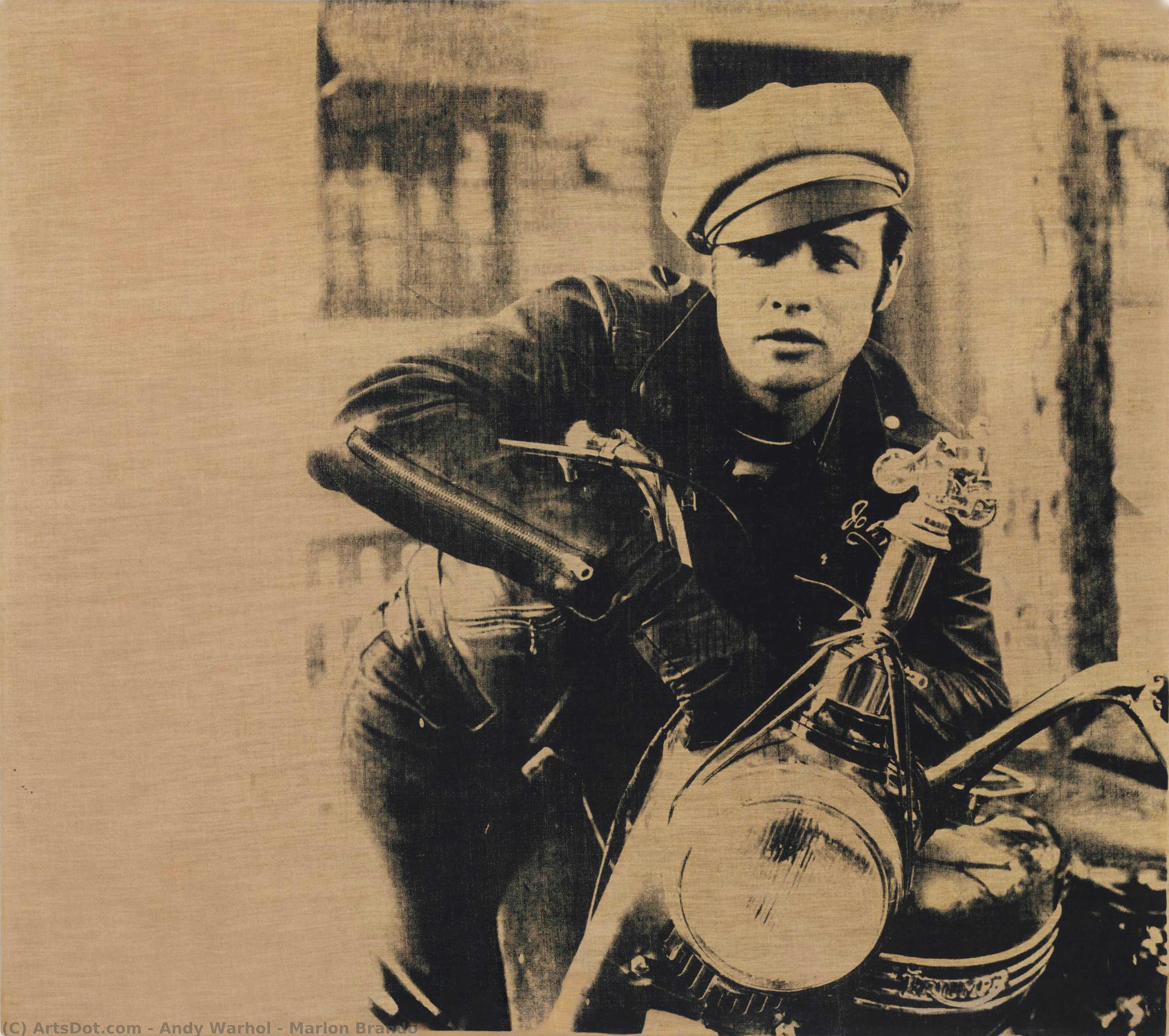 Wikioo.org - The Encyclopedia of Fine Arts - Painting, Artwork by Andy Warhol - Marlon Brando