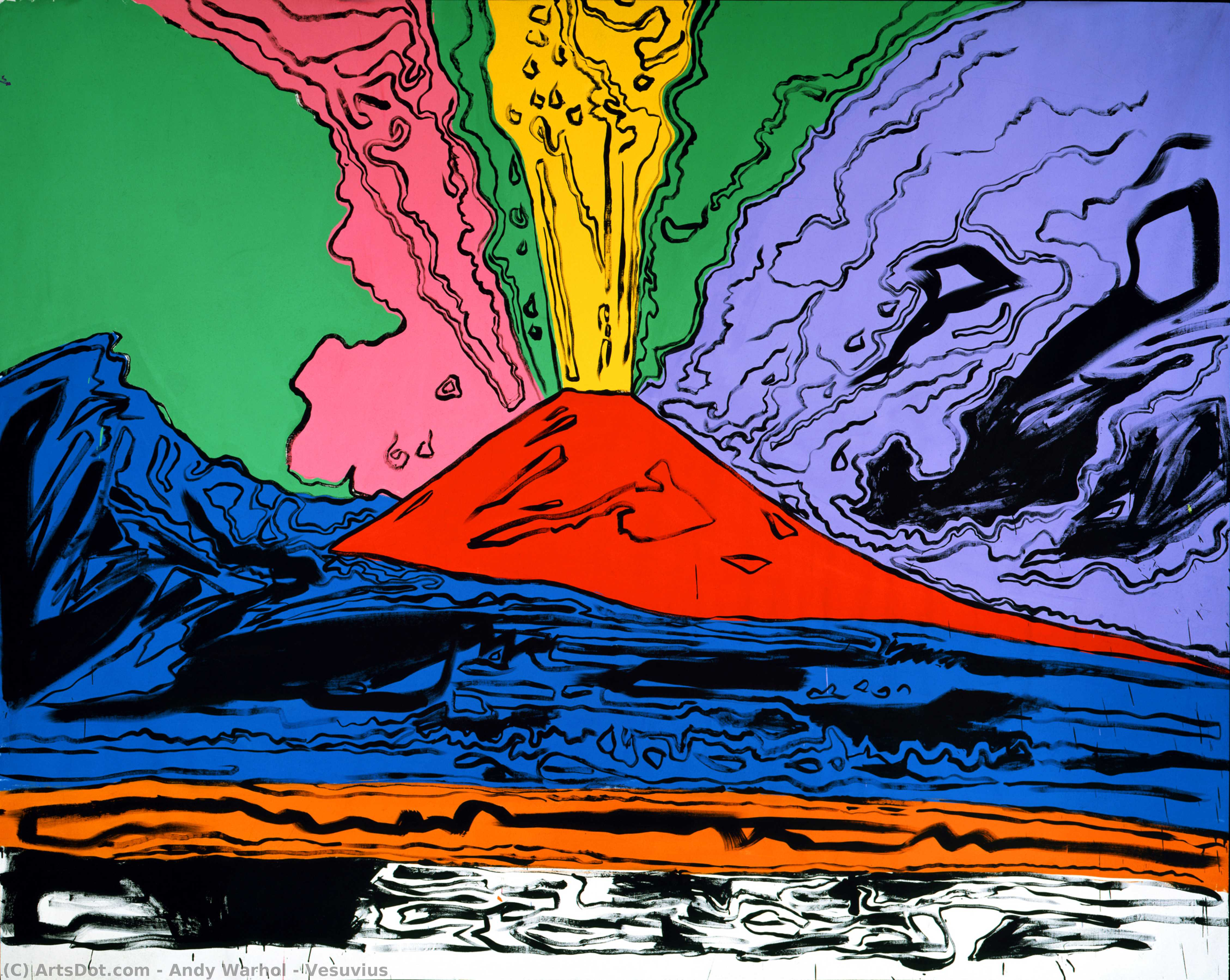 Wikioo.org - The Encyclopedia of Fine Arts - Painting, Artwork by Andy Warhol - Vesuvius
