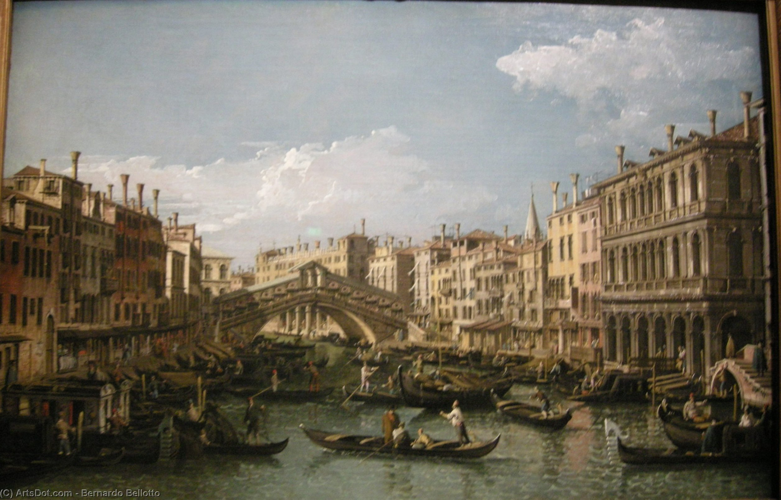 Wikioo.org - The Encyclopedia of Fine Arts - Painting, Artwork by Bernardo Bellotto - Grand canal, view from north
