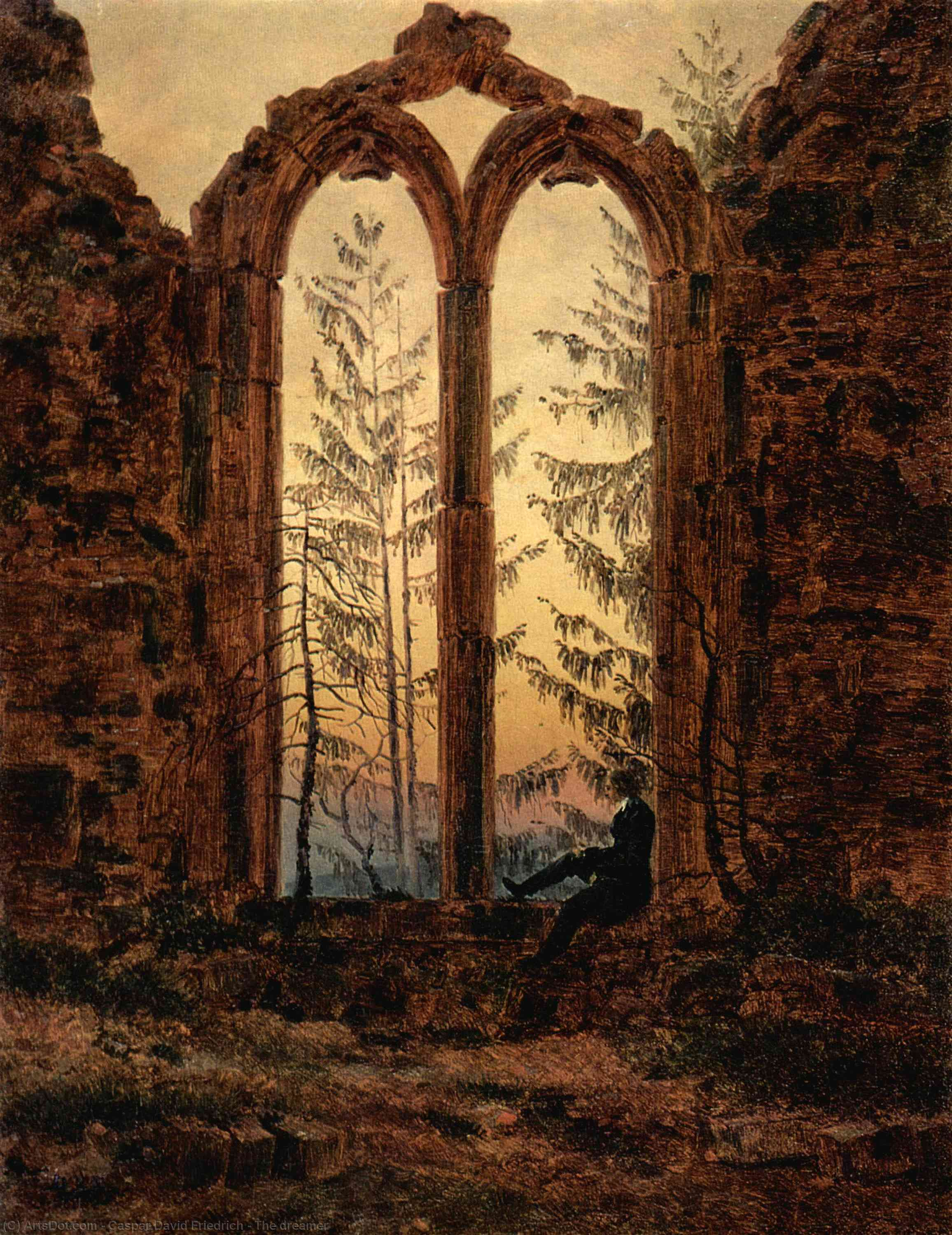 Wikioo.org - The Encyclopedia of Fine Arts - Painting, Artwork by Caspar David Friedrich - The dreamer