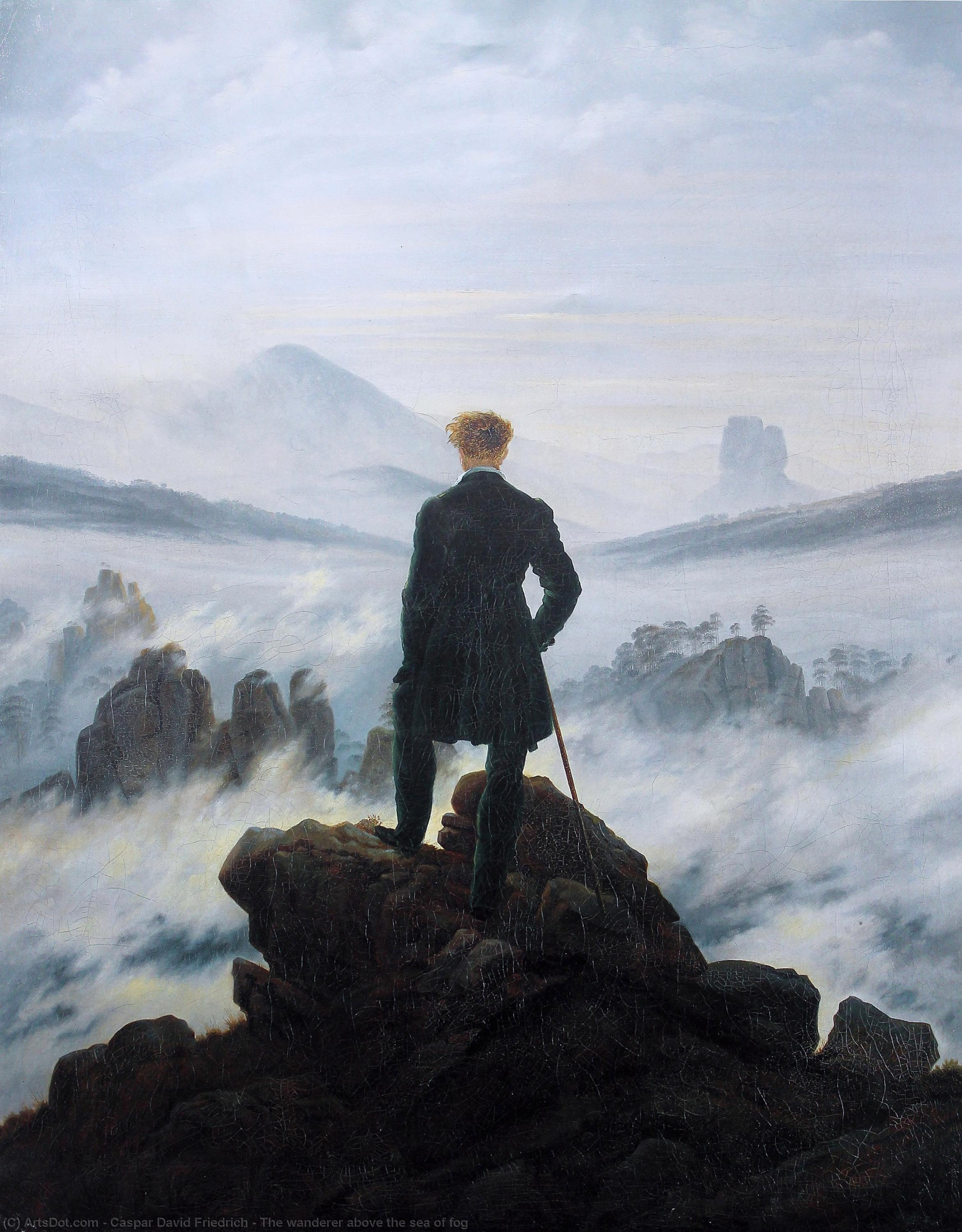 Wikioo.org - The Encyclopedia of Fine Arts - Painting, Artwork by Caspar David Friedrich - The wanderer above the sea of fog
