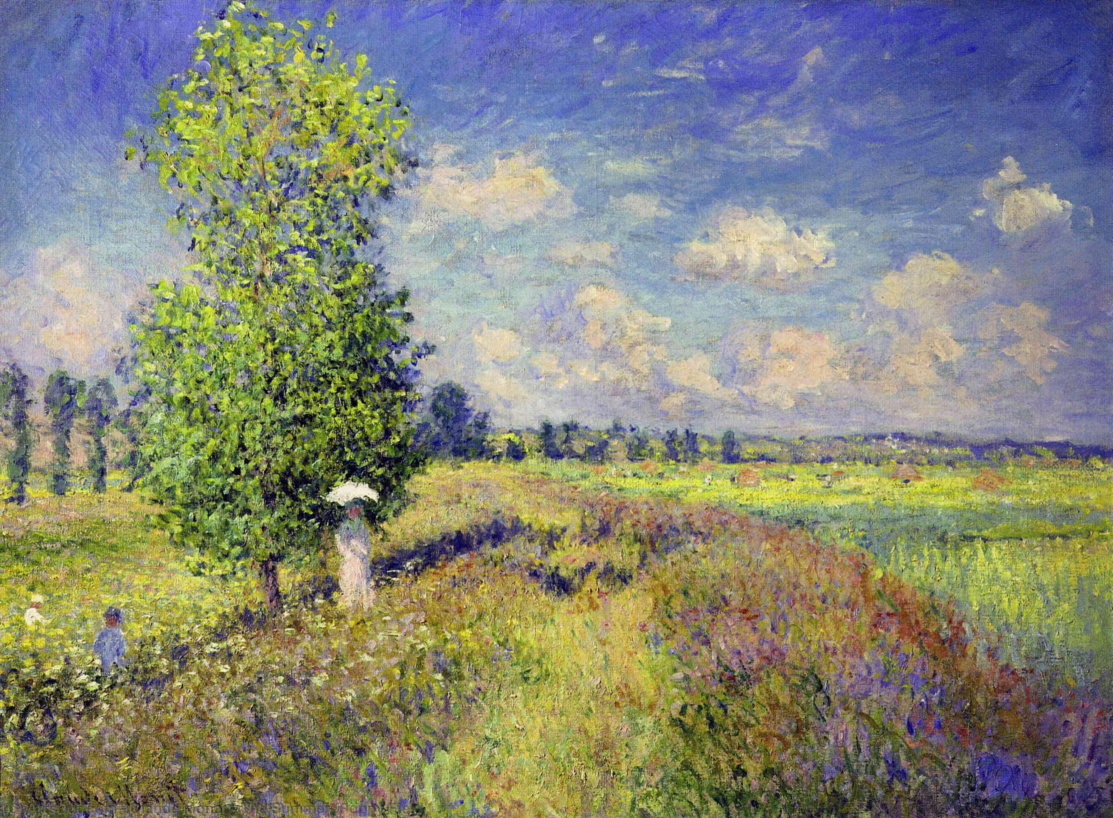 Wikioo.org - The Encyclopedia of Fine Arts - Painting, Artwork by Claude Monet - The Summer, Poppy Field