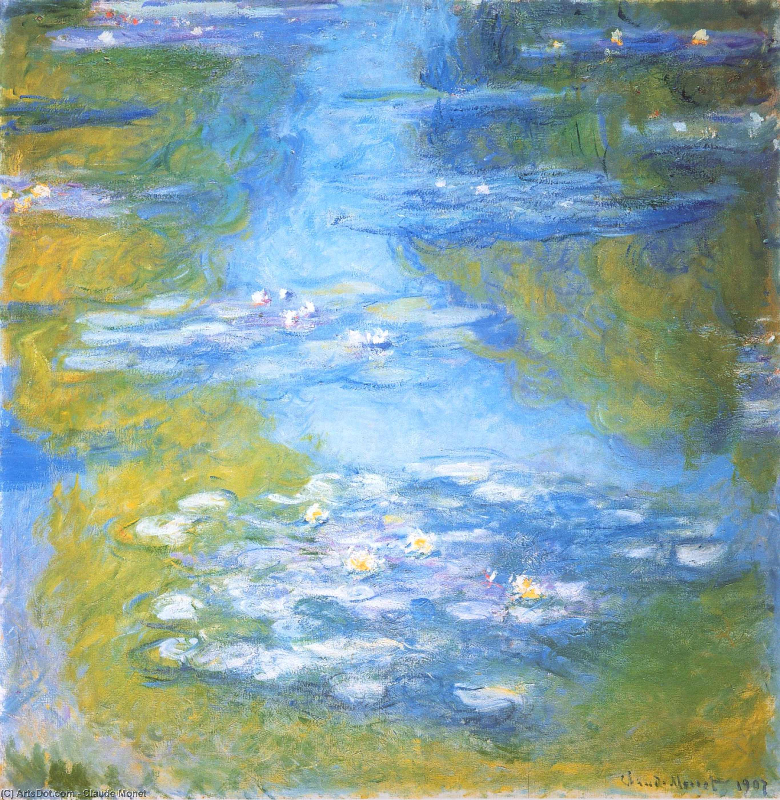 Wikioo.org - The Encyclopedia of Fine Arts - Painting, Artwork by Claude Monet - Water Lilies (23)