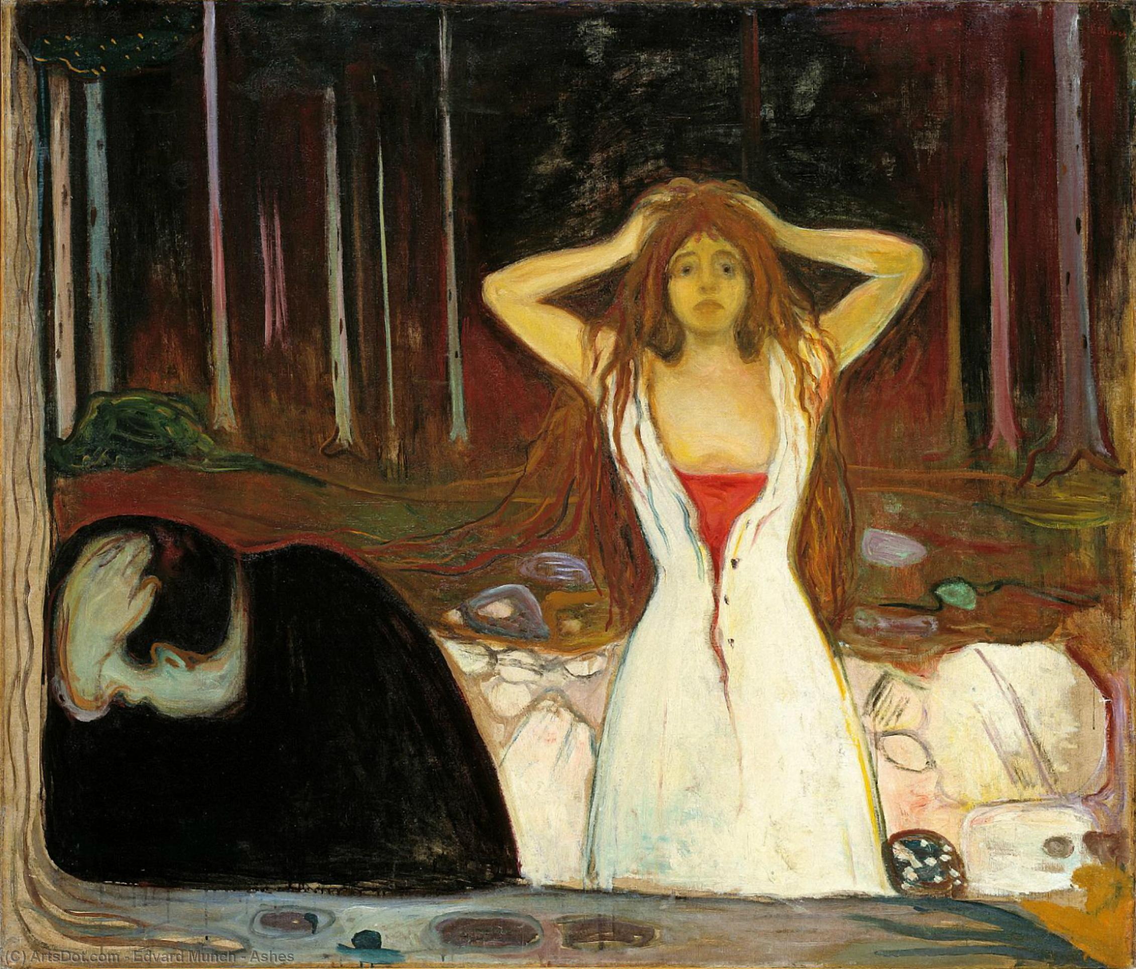Wikioo.org - The Encyclopedia of Fine Arts - Painting, Artwork by Edvard Munch - Ashes