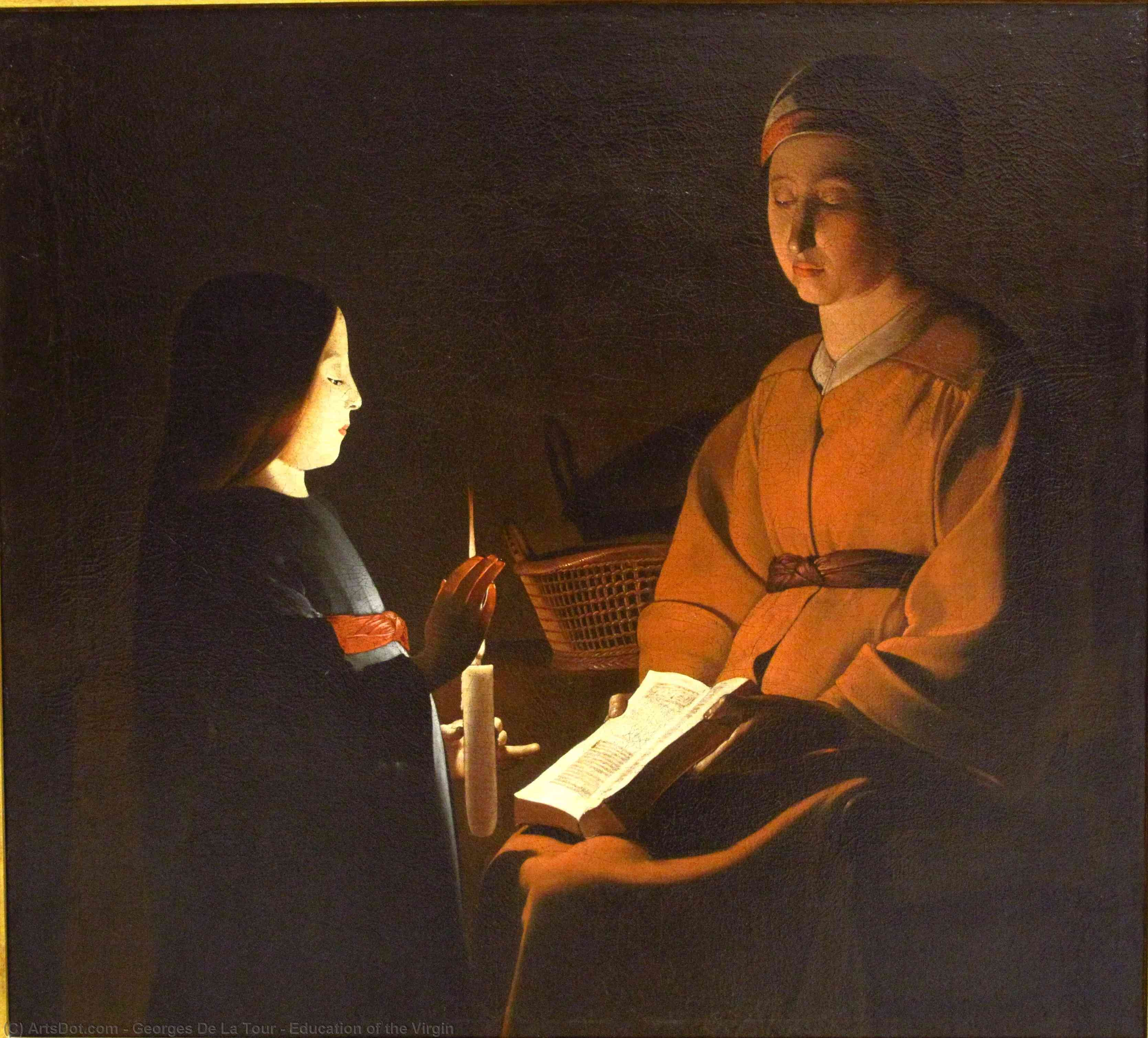 Wikioo.org - The Encyclopedia of Fine Arts - Painting, Artwork by Georges De La Tour - Education of the Virgin
