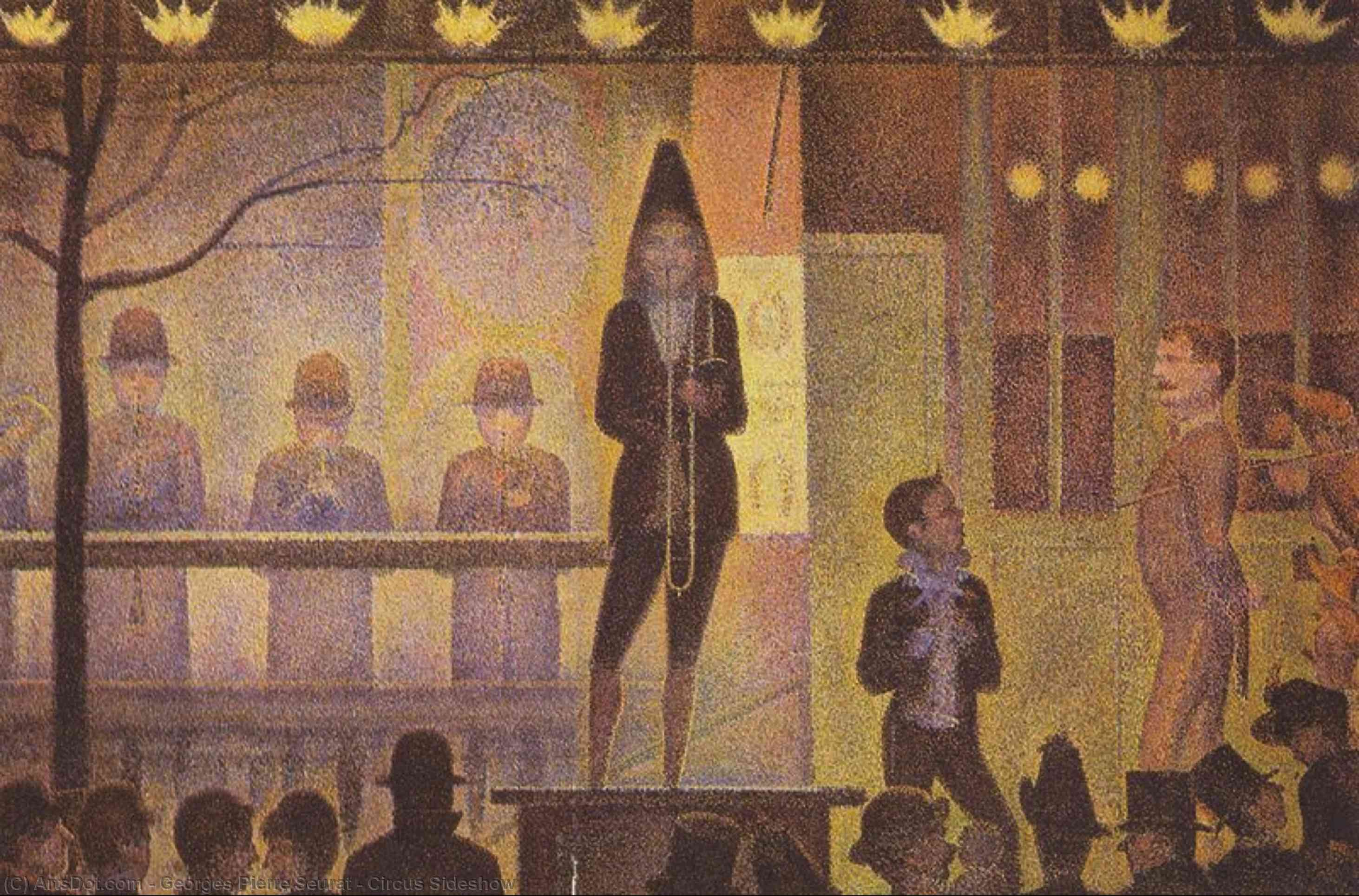 Wikioo.org - The Encyclopedia of Fine Arts - Painting, Artwork by Georges Pierre Seurat - Circus Sideshow