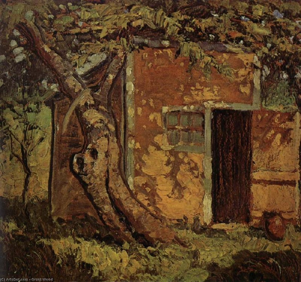 Wikioo.org - The Encyclopedia of Fine Arts - Painting, Artwork by Grant Wood - The Tree