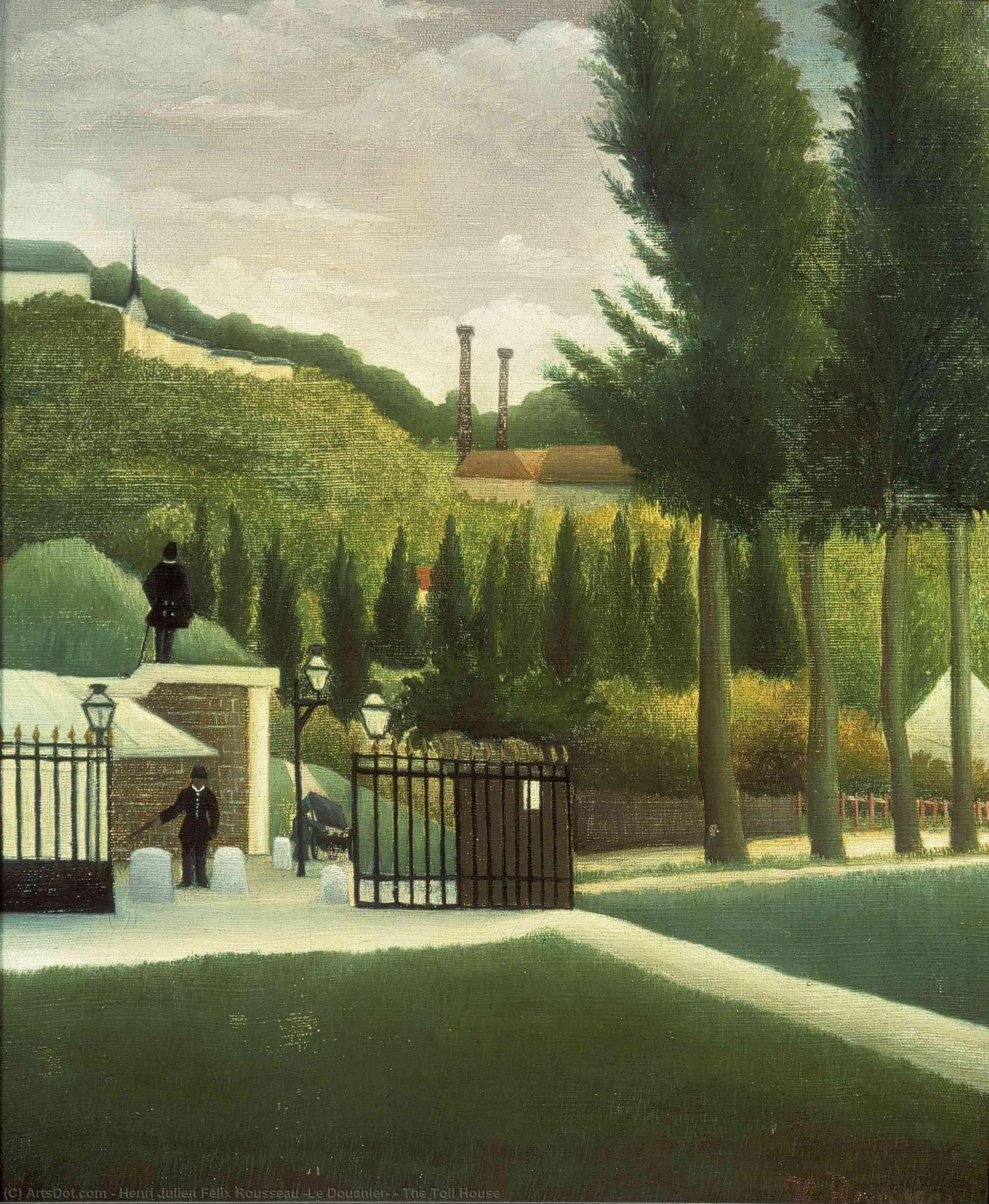 Wikioo.org - The Encyclopedia of Fine Arts - Painting, Artwork by Henri Julien Félix Rousseau (Le Douanier) - The Toll House