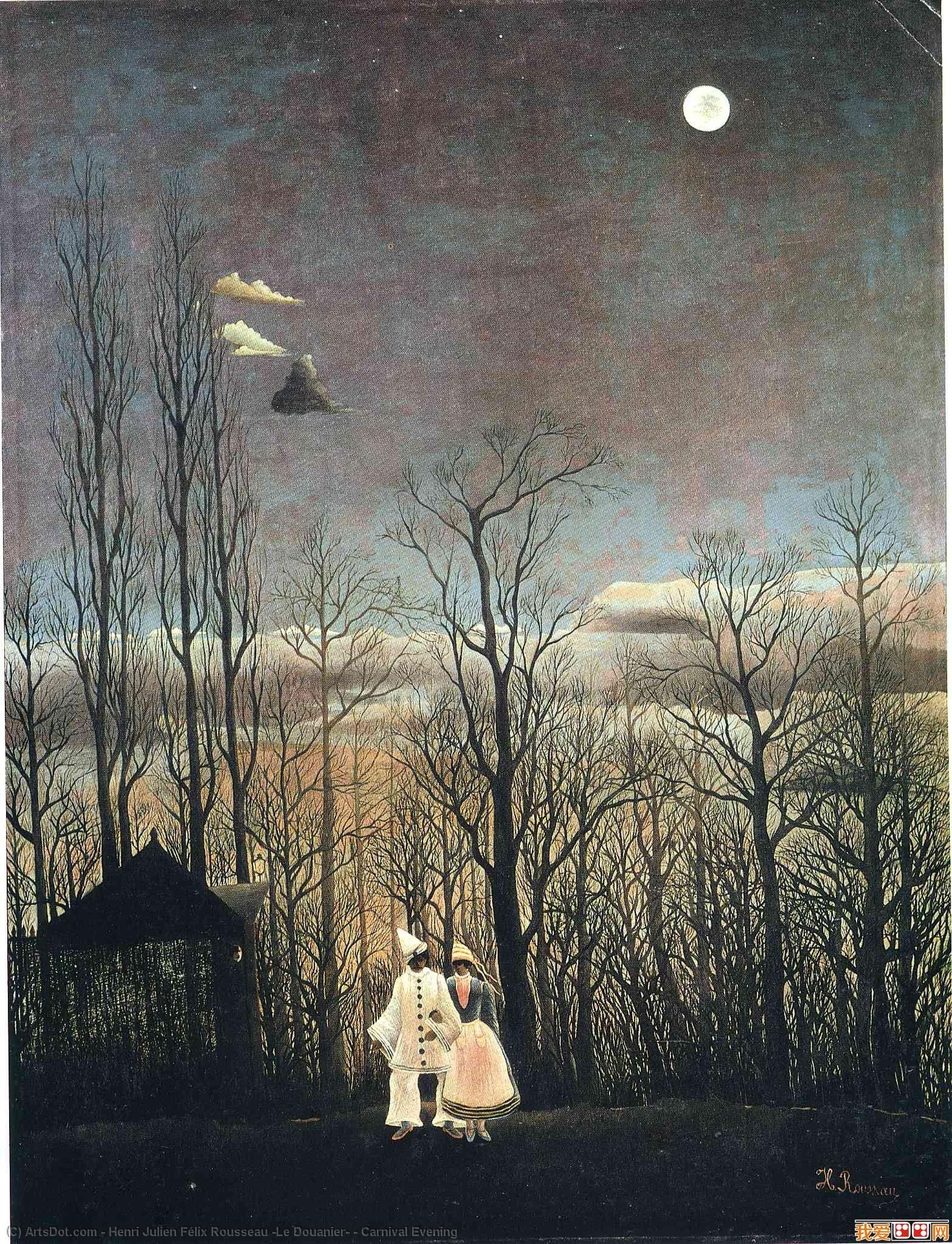 Wikioo.org - The Encyclopedia of Fine Arts - Painting, Artwork by Henri Julien Félix Rousseau (Le Douanier) - Carnival Evening