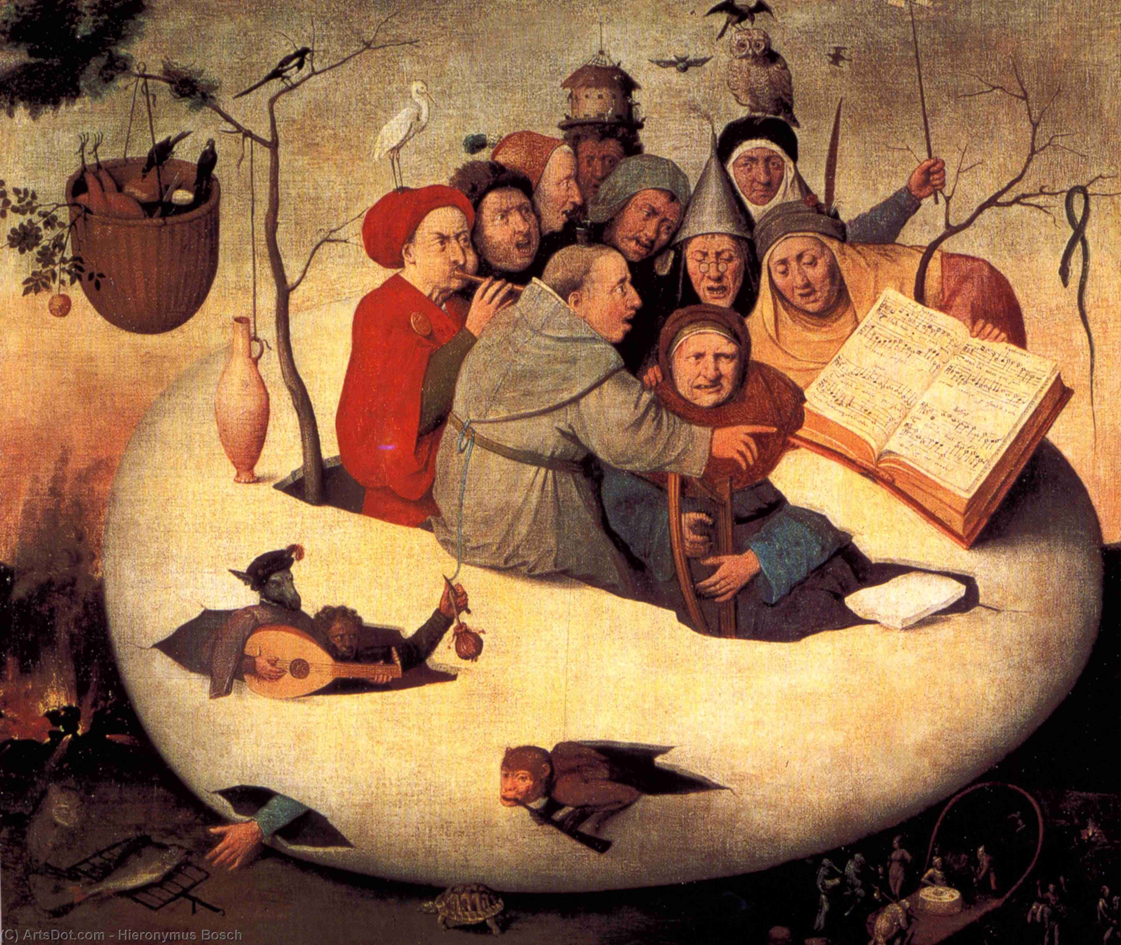 Wikioo.org - The Encyclopedia of Fine Arts - Painting, Artwork by Hieronymus Bosch - The Concert in the Egg