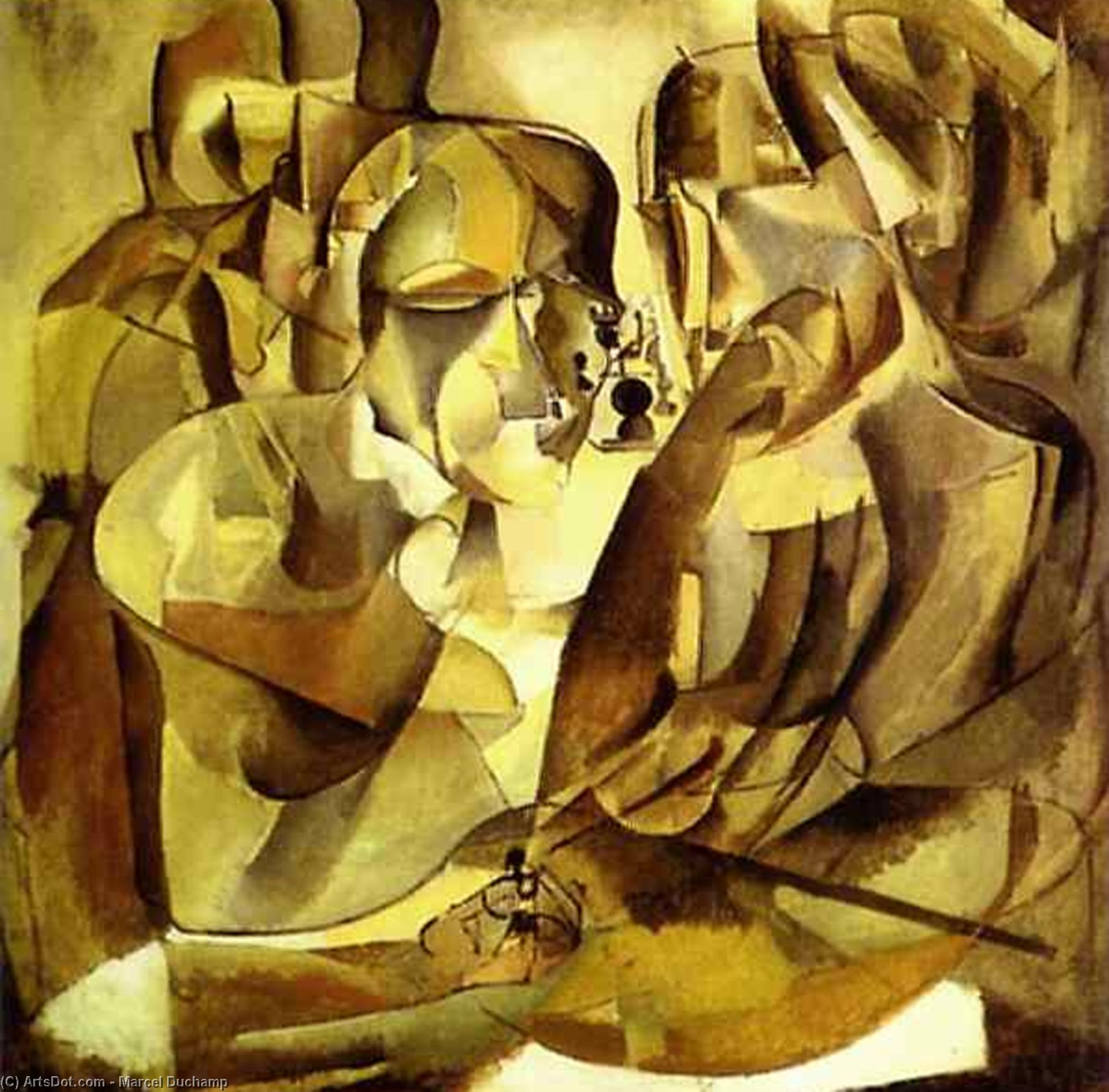 Wikioo.org - The Encyclopedia of Fine Arts - Painting, Artwork by Marcel Duchamp - Portrait of Chess Players