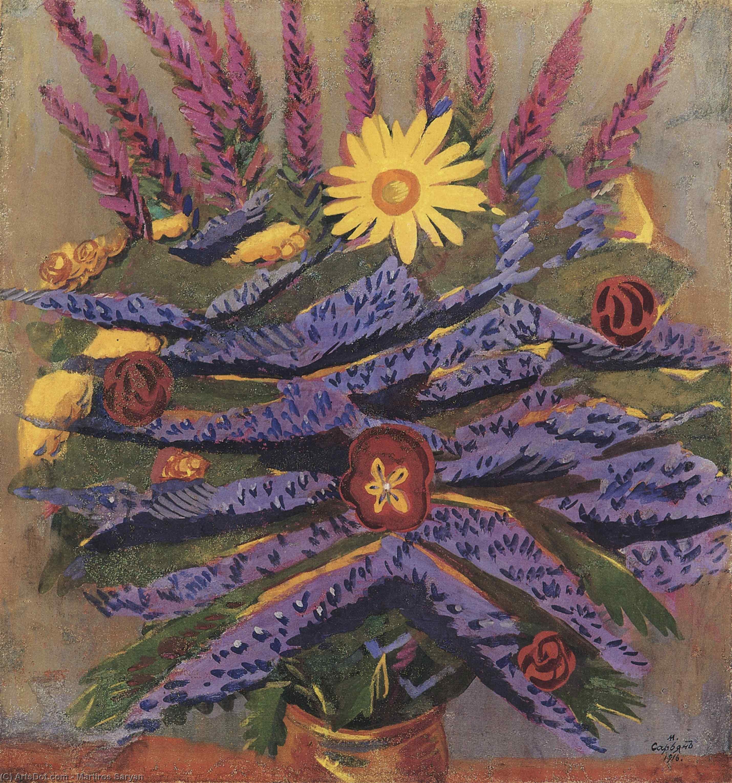 WikiOO.org - Εγκυκλοπαίδεια Καλών Τεχνών - Ζωγραφική, έργα τέχνης Martiros Saryan - Flowers