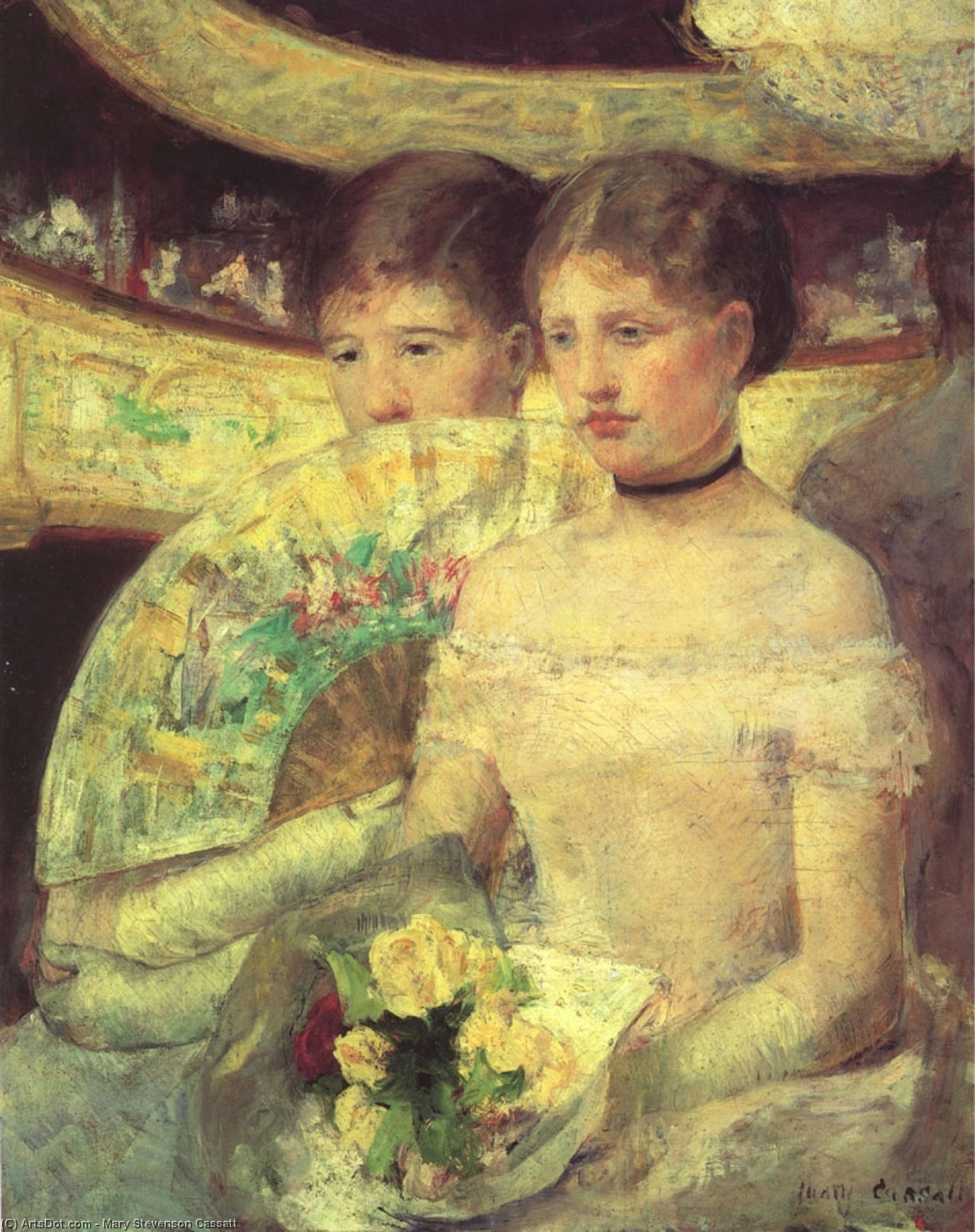 Wikioo.org - The Encyclopedia of Fine Arts - Painting, Artwork by Mary Stevenson Cassatt - The Loge