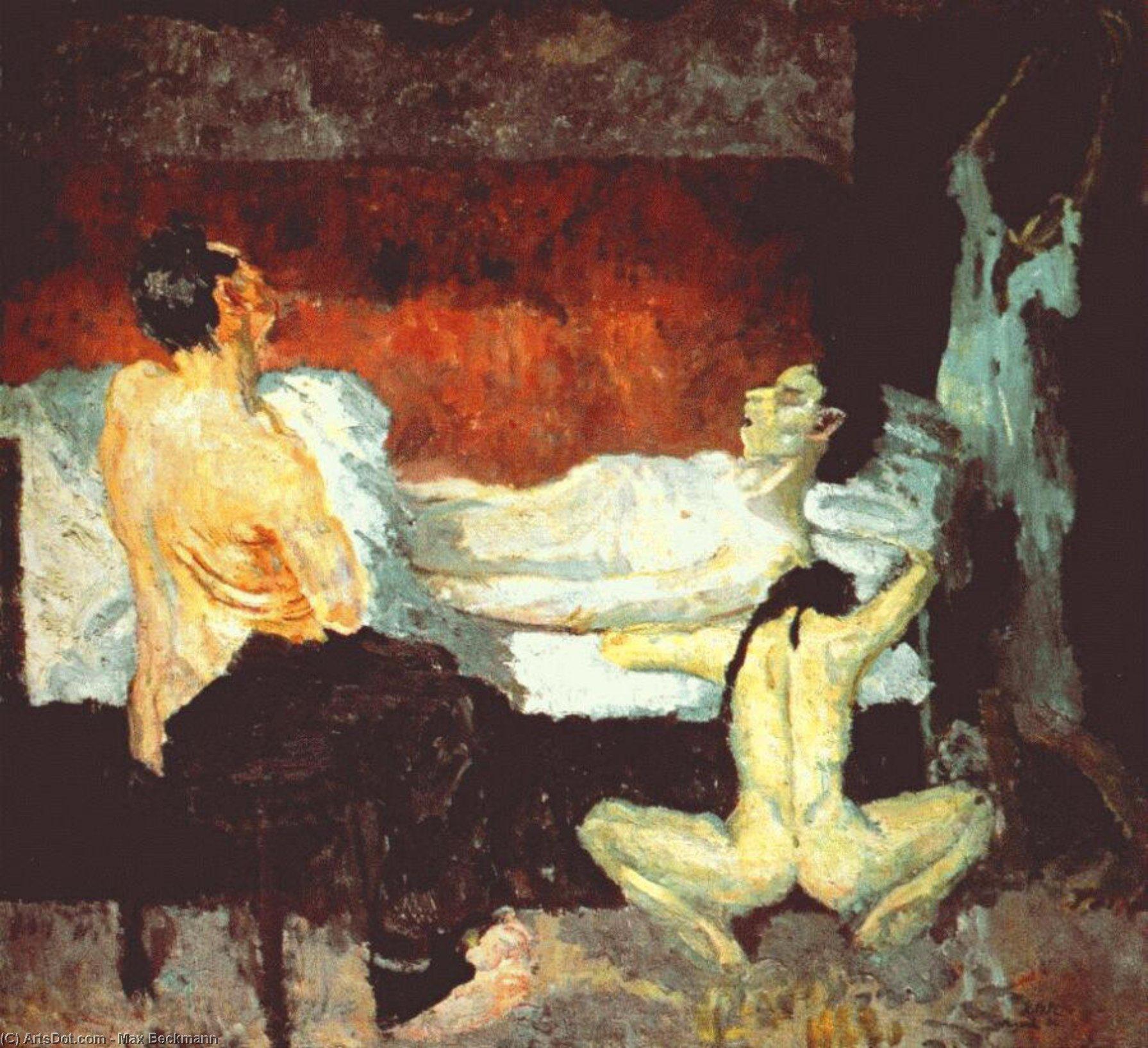 Wikoo.org - موسوعة الفنون الجميلة - اللوحة، العمل الفني Max Beckmann - Great Scene of Agony