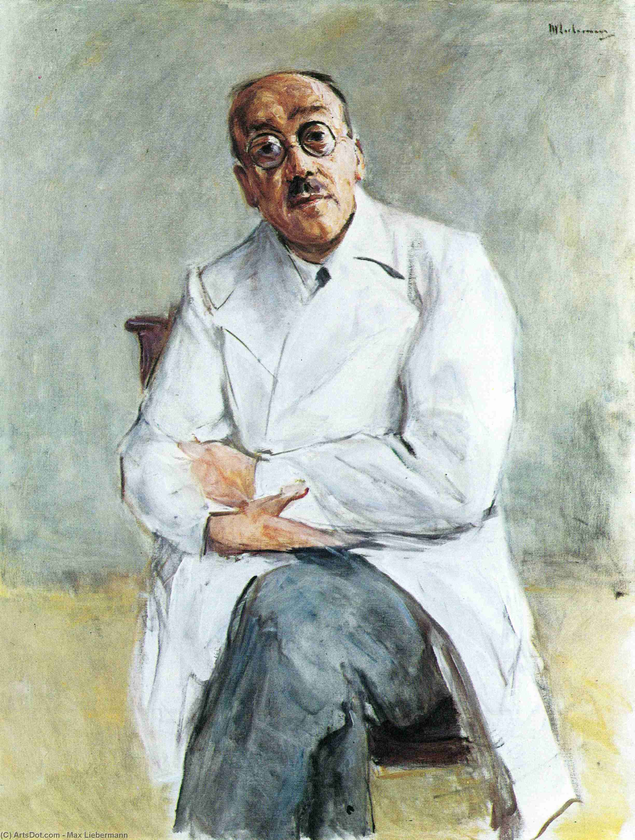 Wikioo.org - The Encyclopedia of Fine Arts - Painting, Artwork by Max Liebermann - The Surgeon, Ferdinand Sauerbruch