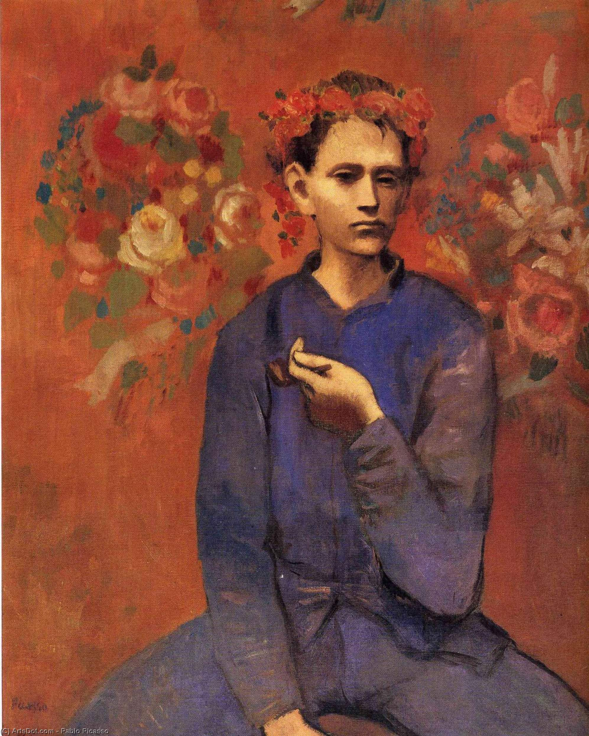 Wikioo.org - The Encyclopedia of Fine Arts - Painting, Artwork by Pablo Picasso - A boy with pipe