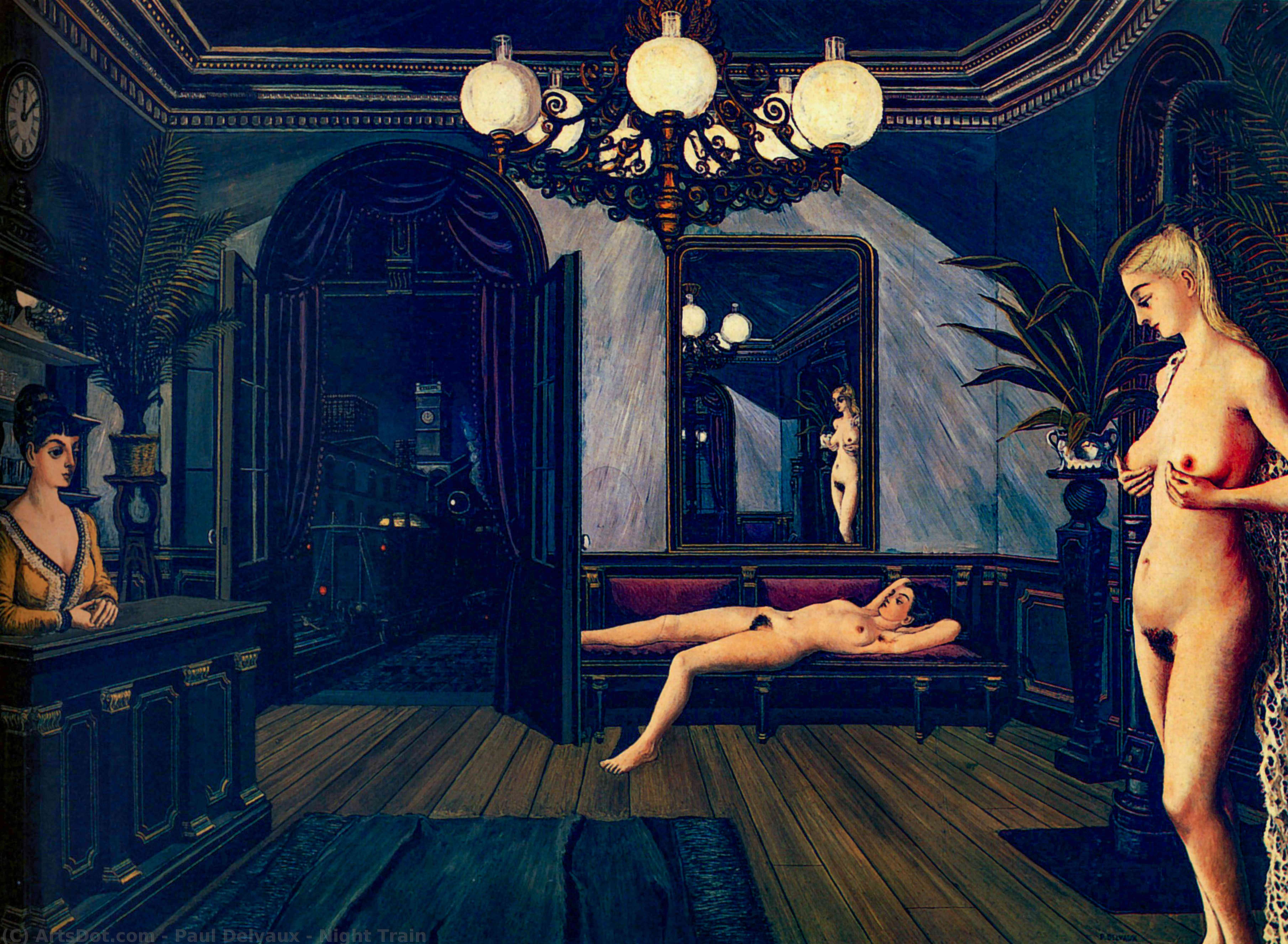 Wikioo.org - The Encyclopedia of Fine Arts - Painting, Artwork by Paul Delvaux - Night Train