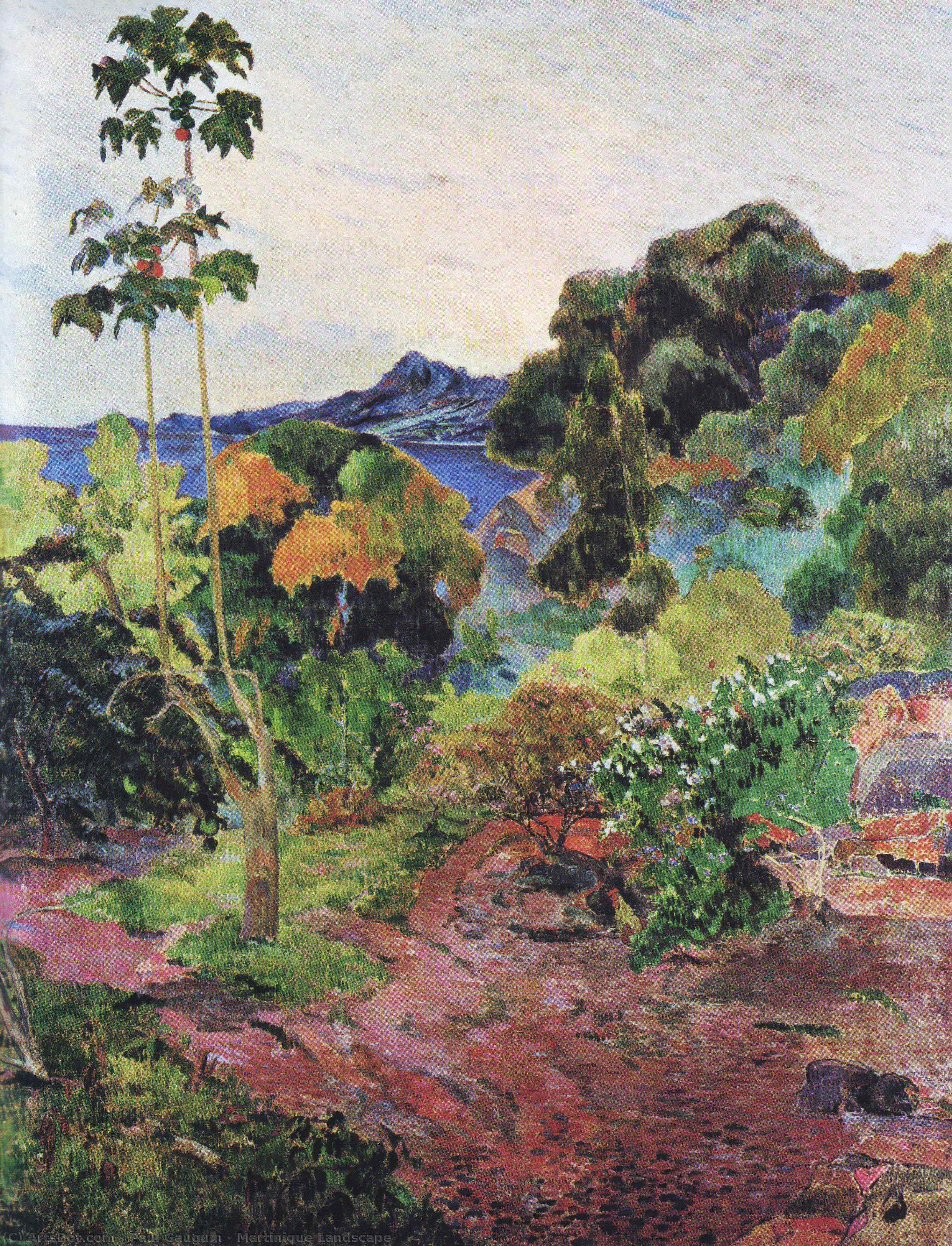 Wikioo.org - The Encyclopedia of Fine Arts - Painting, Artwork by Paul Gauguin - Martinique Landscape