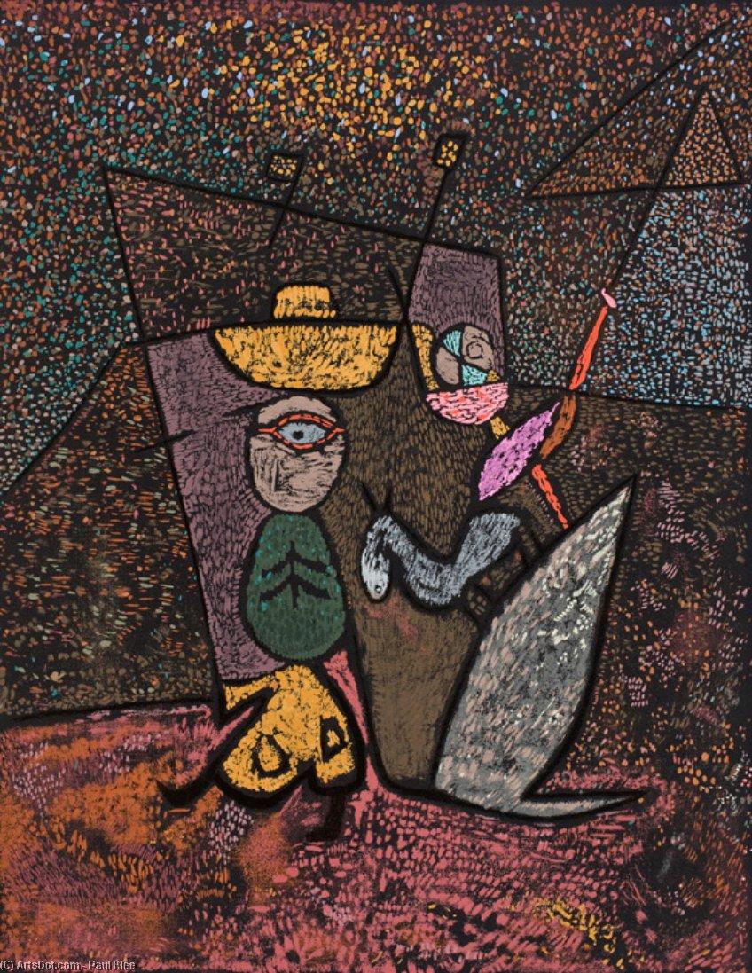 el viajero circo - Paul Klee | Wikioo.org – La Enciclopedia de las Bellas  Artes