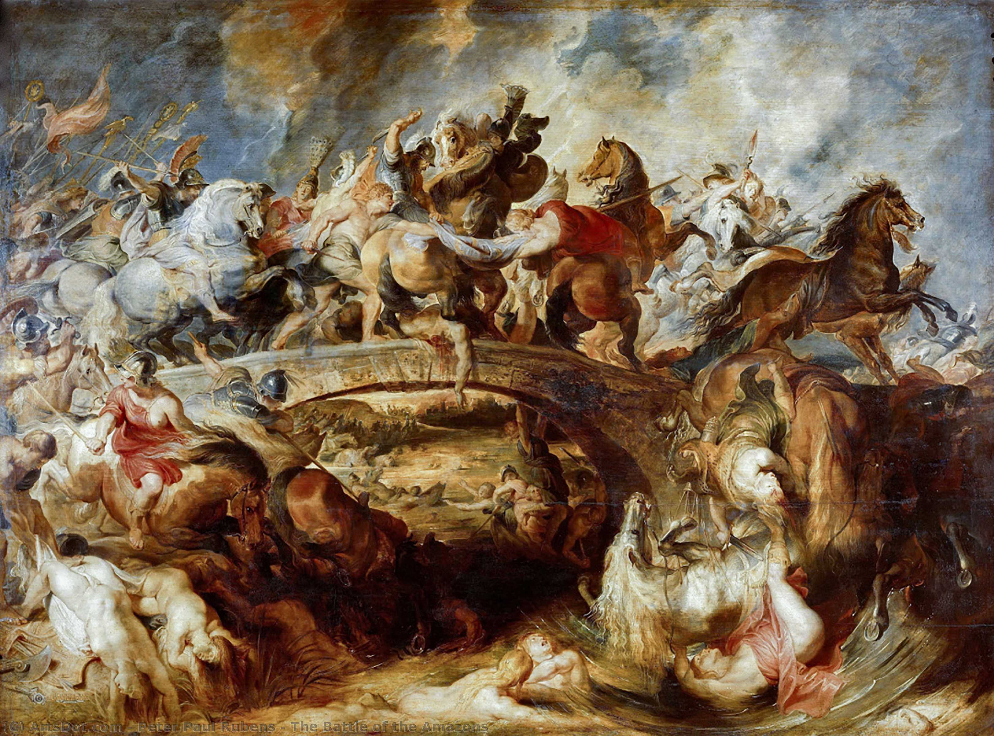 Wikioo.org - The Encyclopedia of Fine Arts - Painting, Artwork by Peter Paul Rubens - The Battle of the Amazons