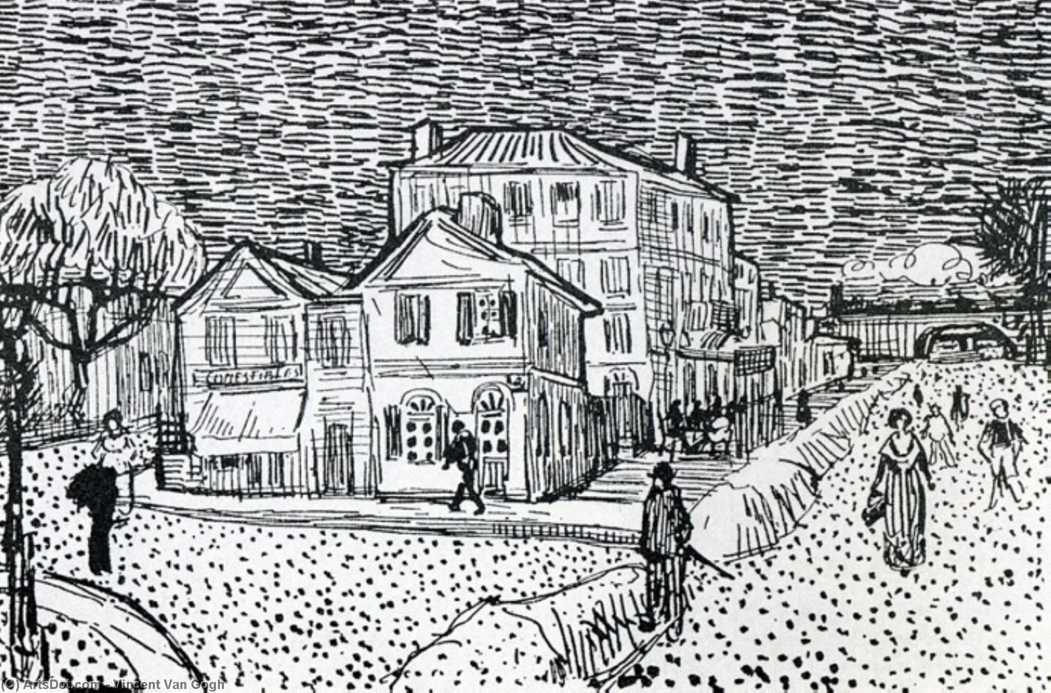 Wikioo.org - The Encyclopedia of Fine Arts - Painting, Artwork by Vincent Van Gogh - The Artist's House in Arles