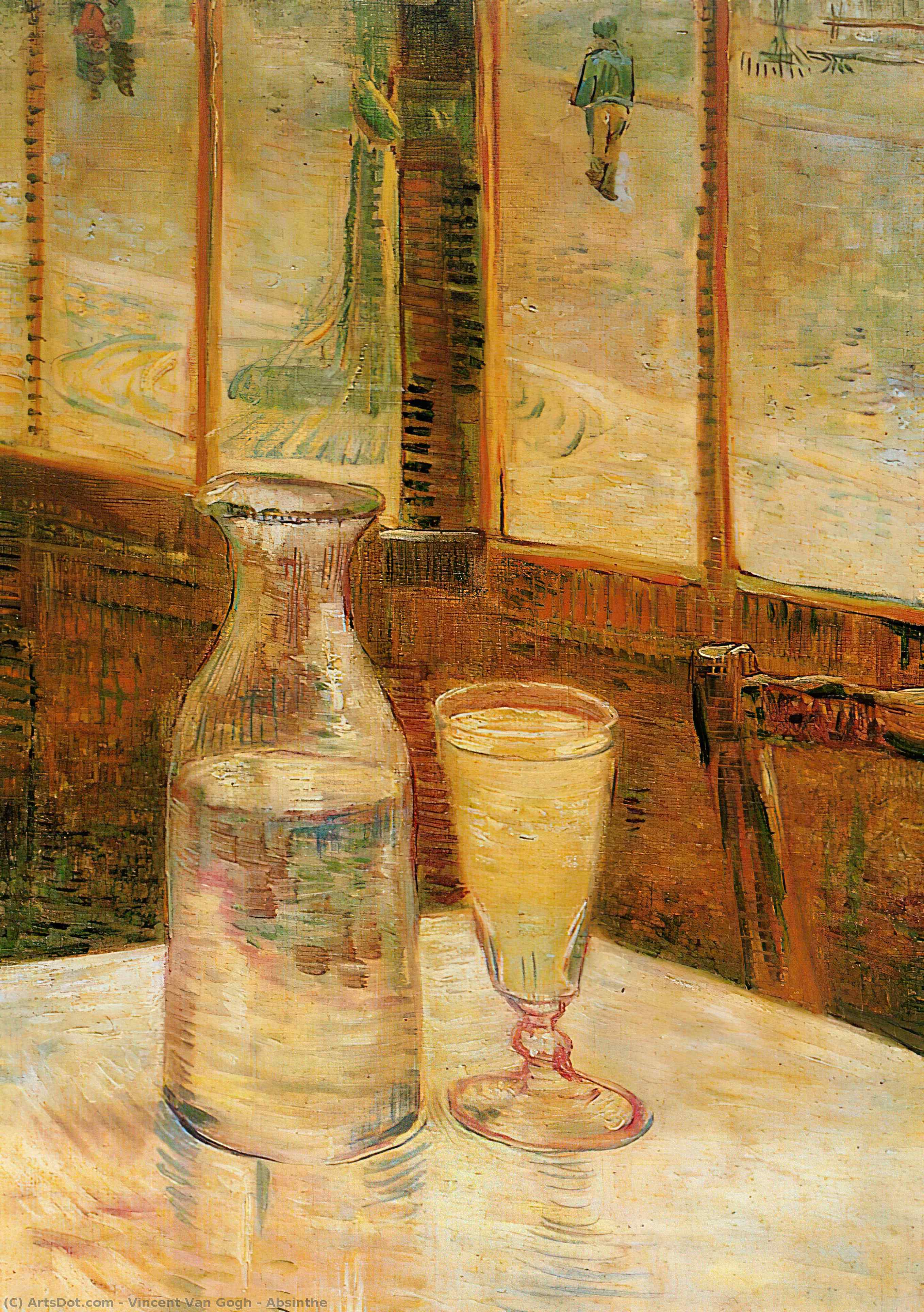 Wikioo.org - The Encyclopedia of Fine Arts - Painting, Artwork by Vincent Van Gogh - Absinthe