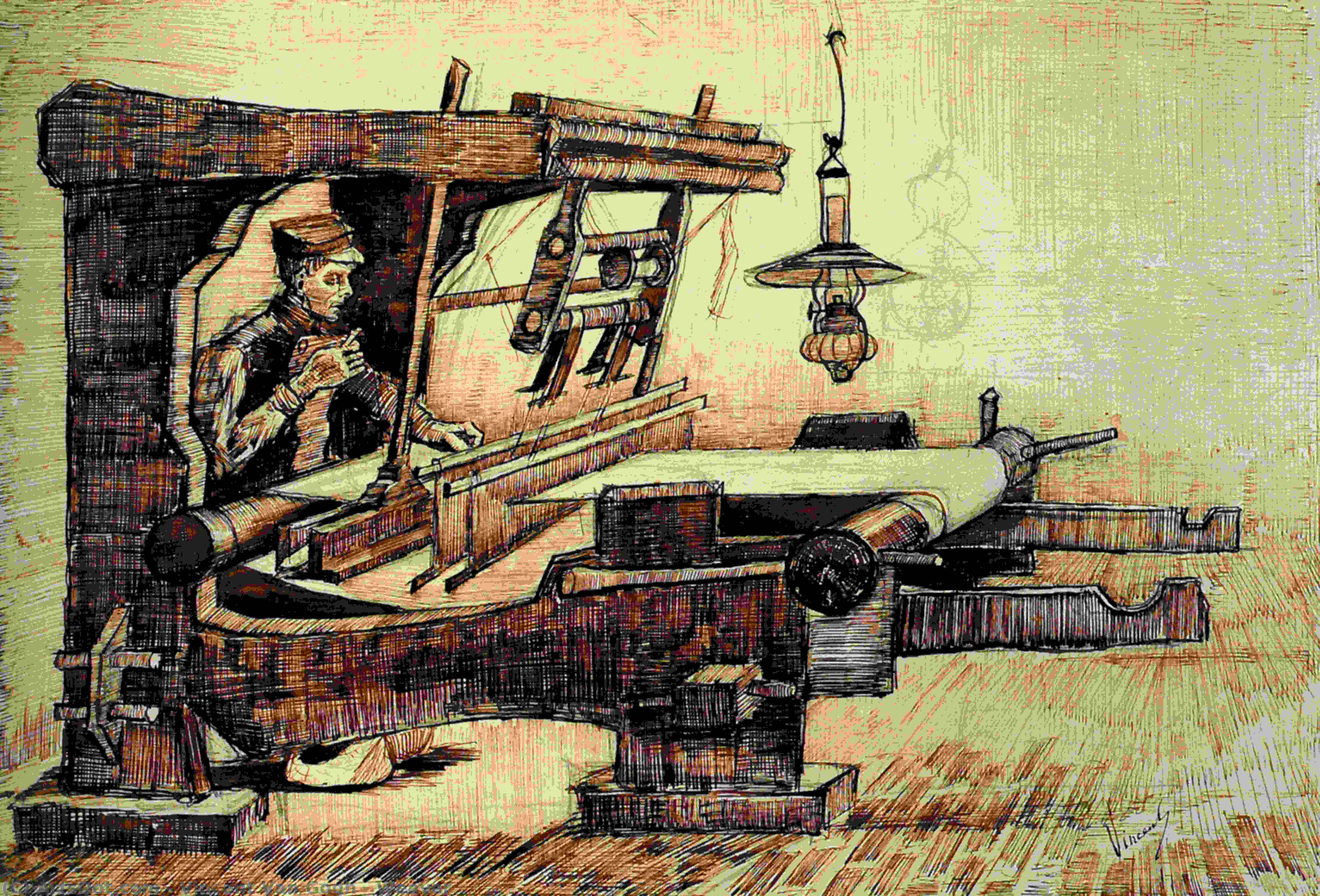 Wikioo.org - The Encyclopedia of Fine Arts - Painting, Artwork by Vincent Van Gogh - Weaver