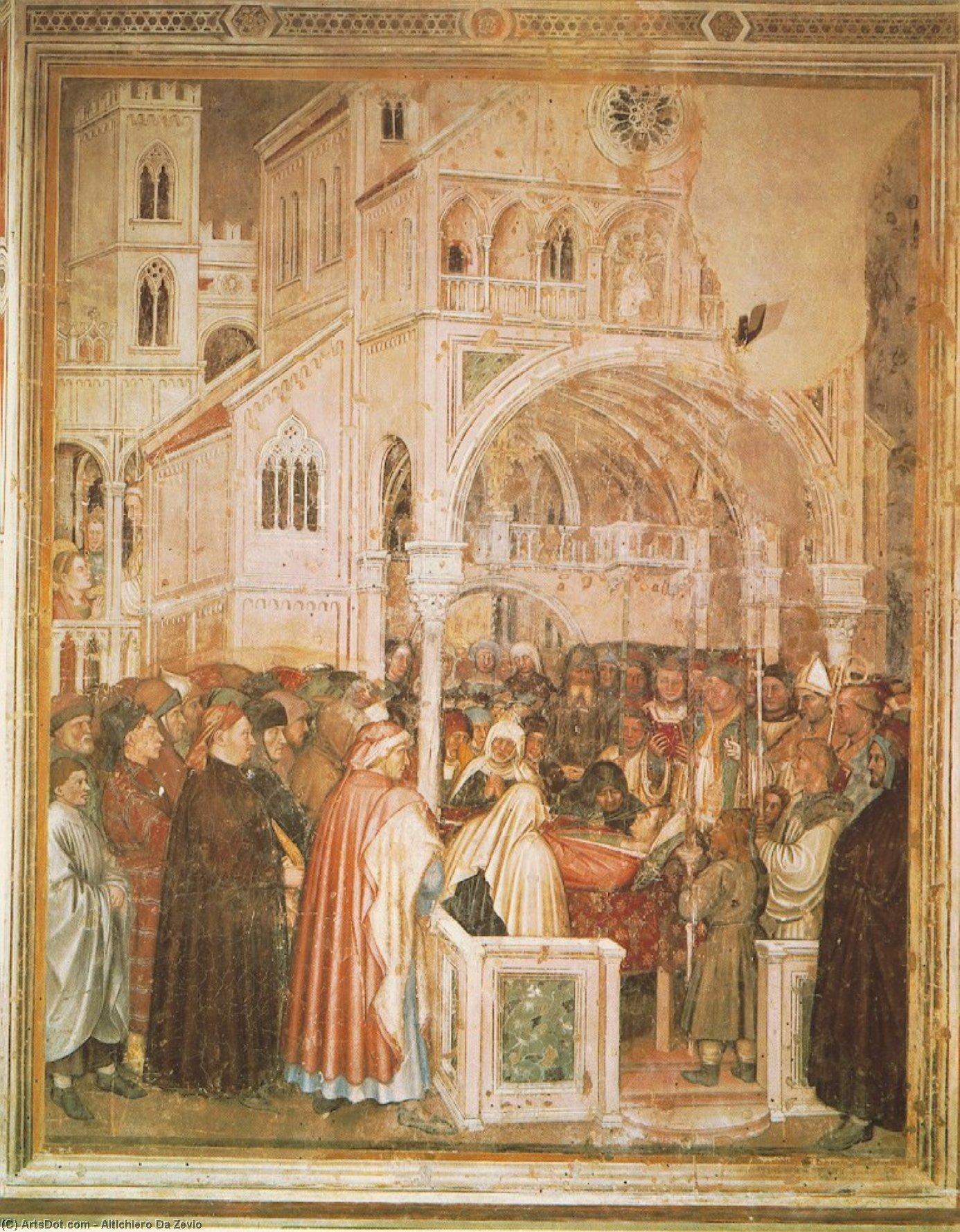 WikiOO.org - Enciklopedija dailės - Tapyba, meno kuriniai Altichiero Da Zevio - Death of St Lucy