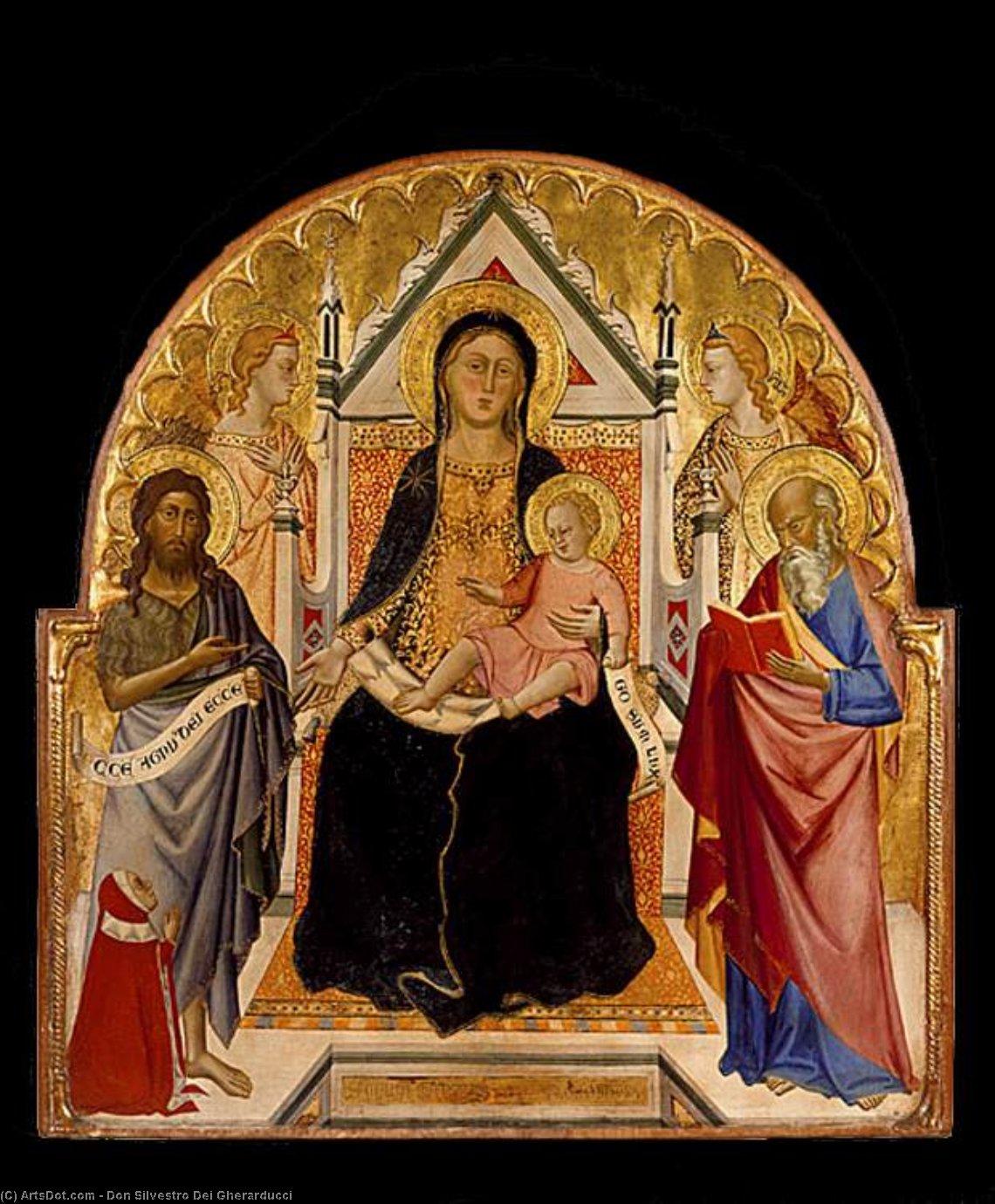 WikiOO.org - Enciklopedija dailės - Tapyba, meno kuriniai Don Silvestro Dei Gherarducci - Madonna and Child with Sts John Baptist and Paul