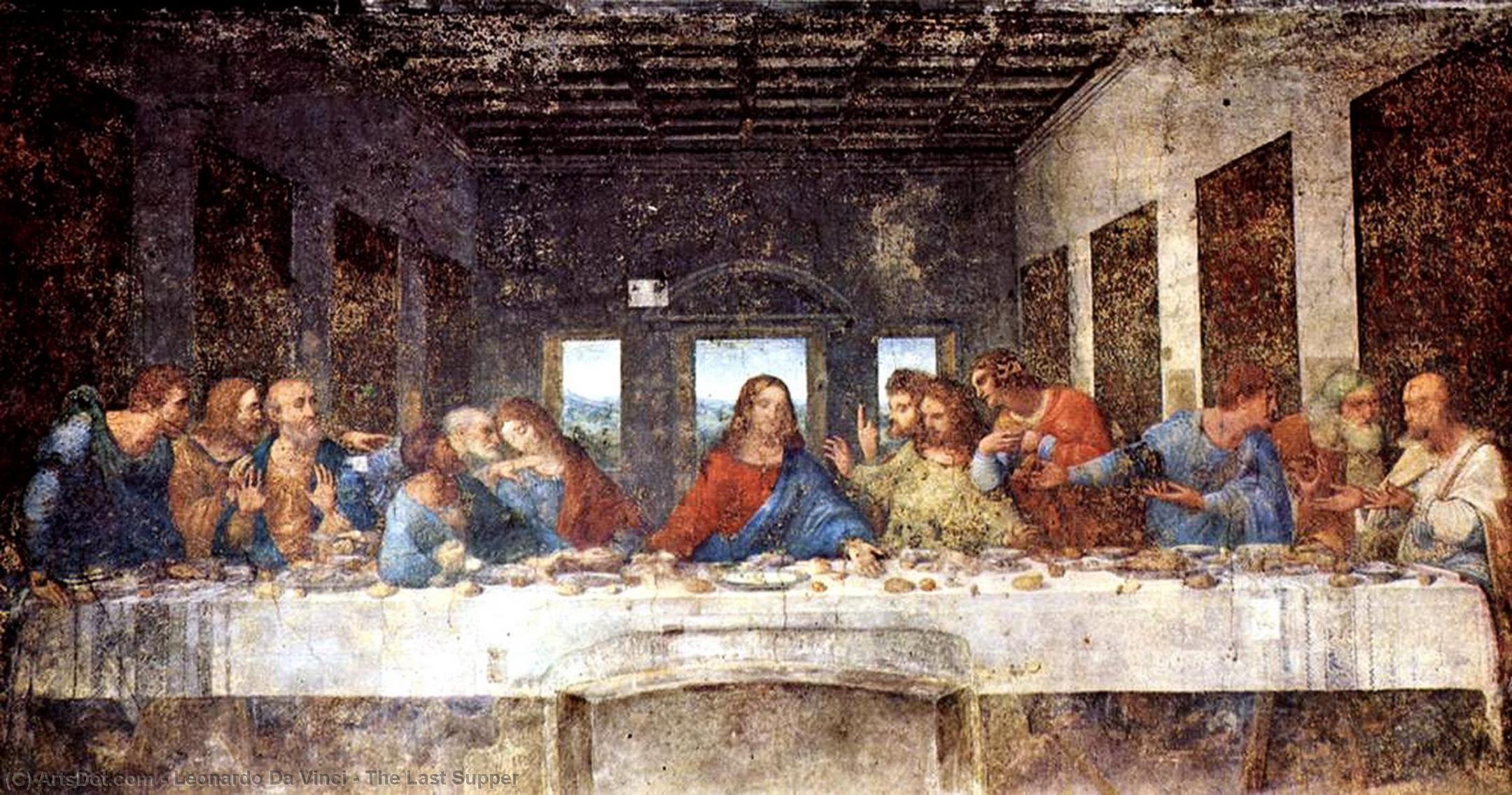 WikiOO.org - Güzel Sanatlar Ansiklopedisi - Resim, Resimler Leonardo Da Vinci - The Last Supper