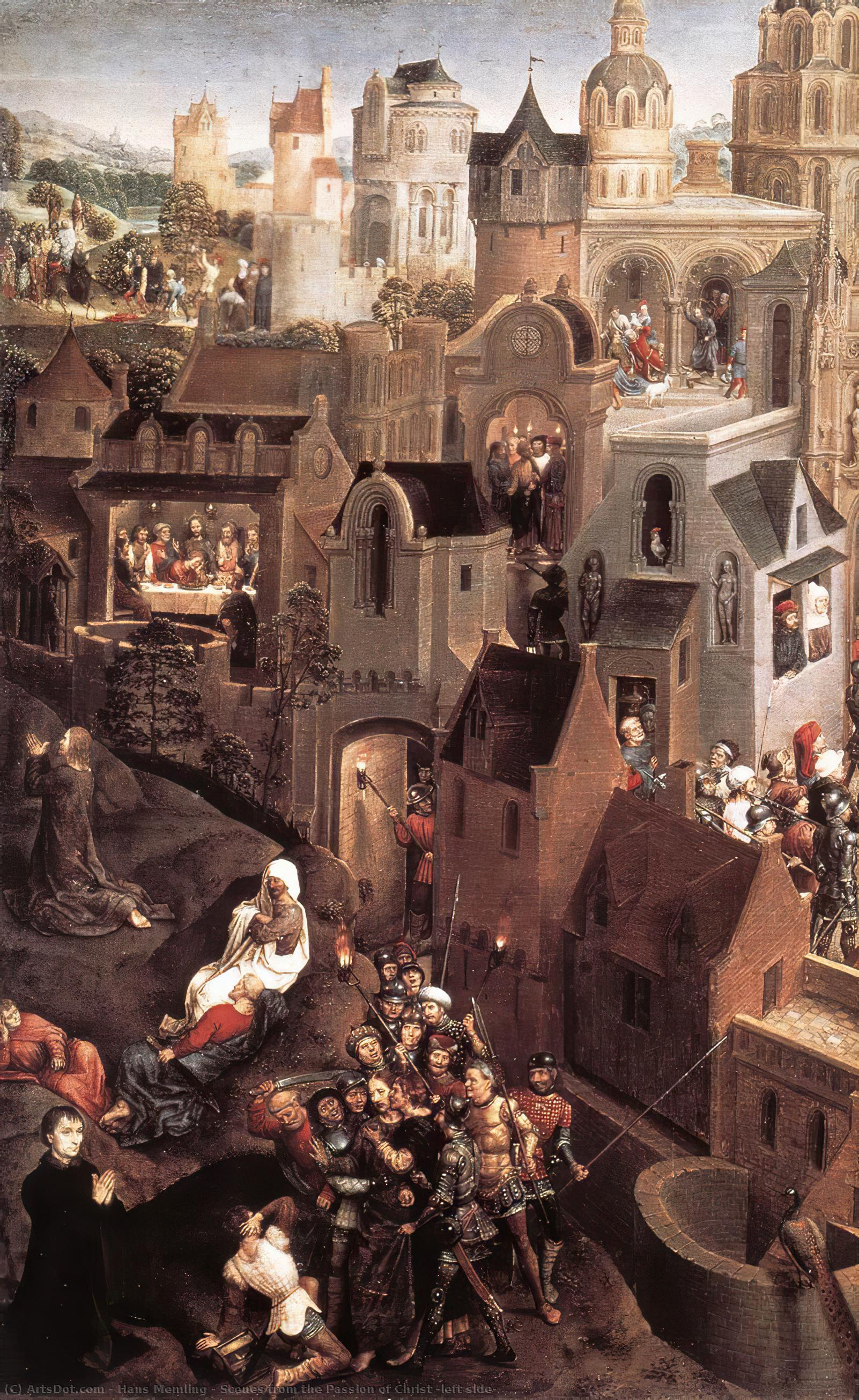 Wikioo.org - The Encyclopedia of Fine Arts - Painting, Artwork by Hans Memling - Scenes from the Passion of Christ (left side)