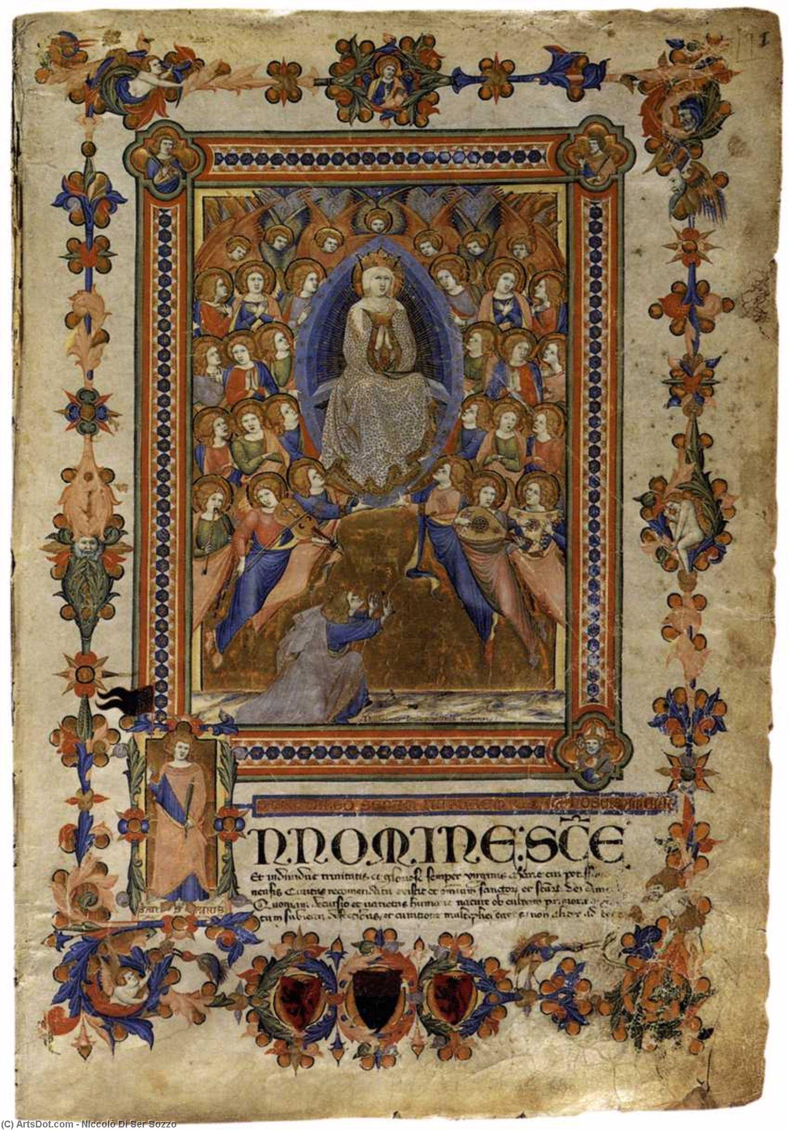 WikiOO.org - Enciklopedija dailės - Tapyba, meno kuriniai Niccolò Di Ser Sozzo - The Virgin of the Assumption