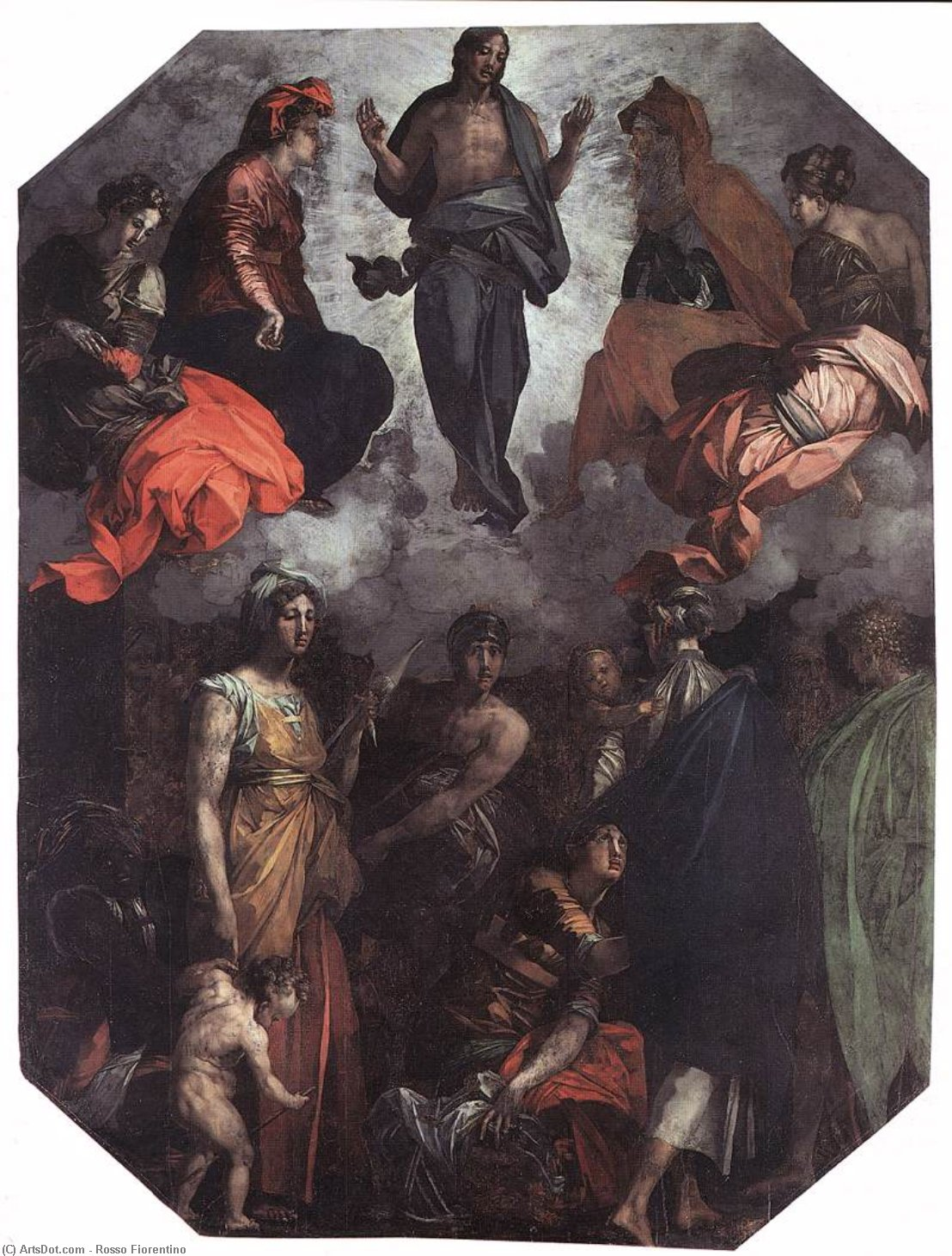 Wikioo.org - The Encyclopedia of Fine Arts - Painting, Artwork by Rosso Fiorentino - Risen Christ