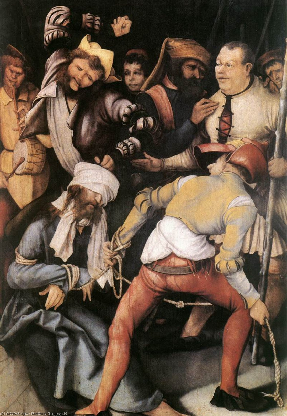 WikiOO.org - Encyclopedia of Fine Arts - Festés, Grafika Matthias Grünewald - The Mocking of Christ