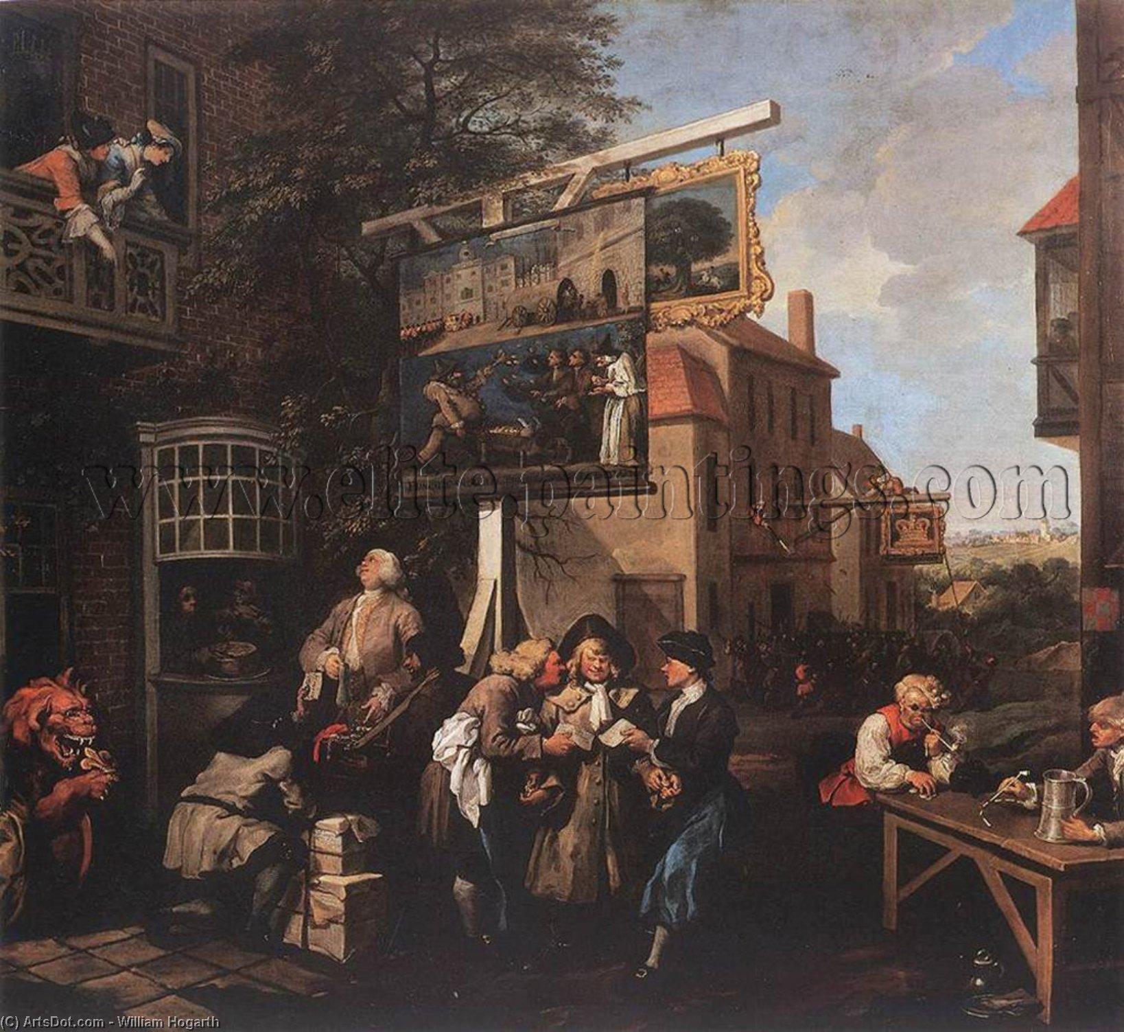 WikiOO.org - Enciklopedija dailės - Tapyba, meno kuriniai William Hogarth - Soliciting Votes