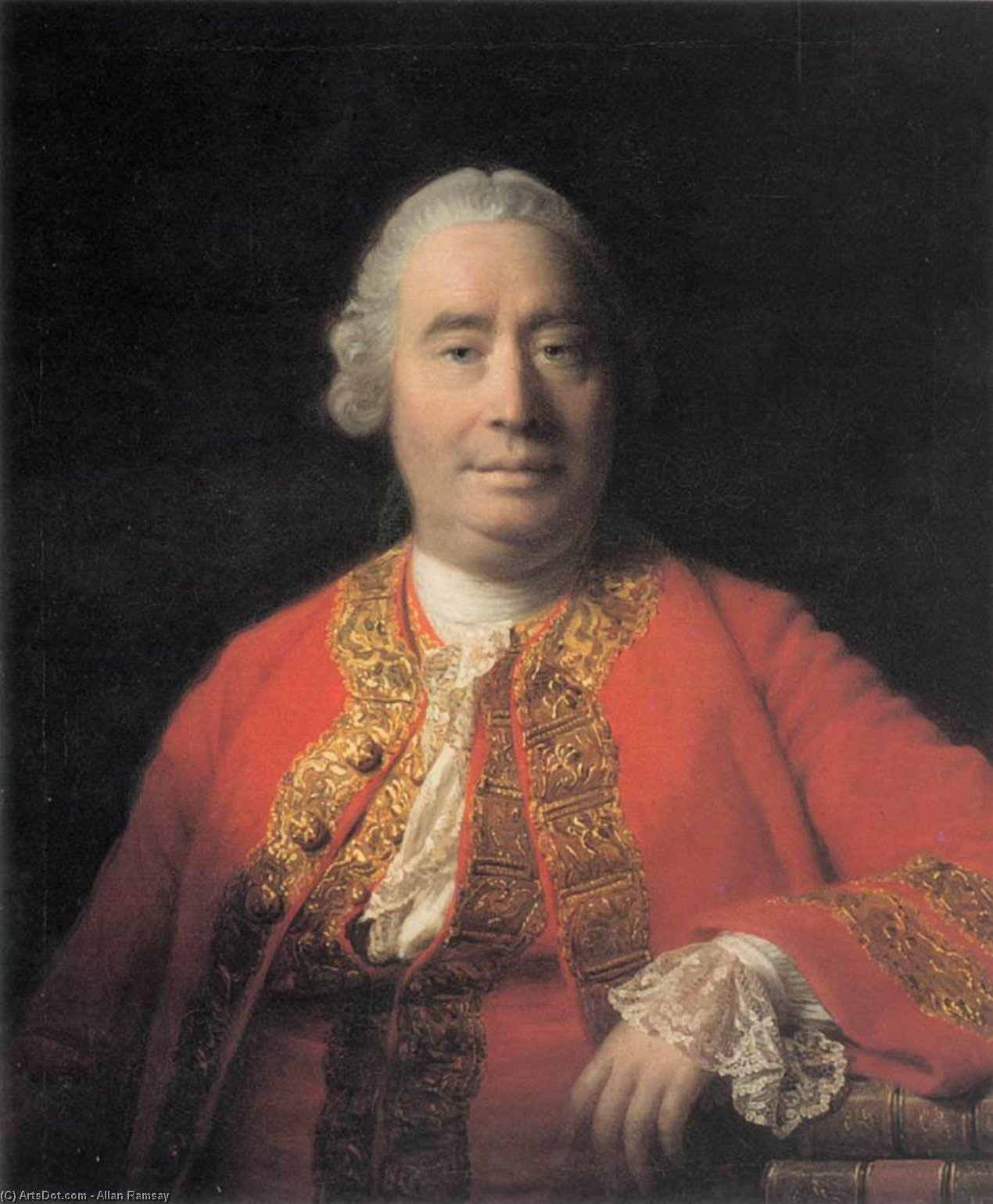 Wikioo.org - The Encyclopedia of Fine Arts - Painting, Artwork by Allan Ramsay - Portrait of David Hume