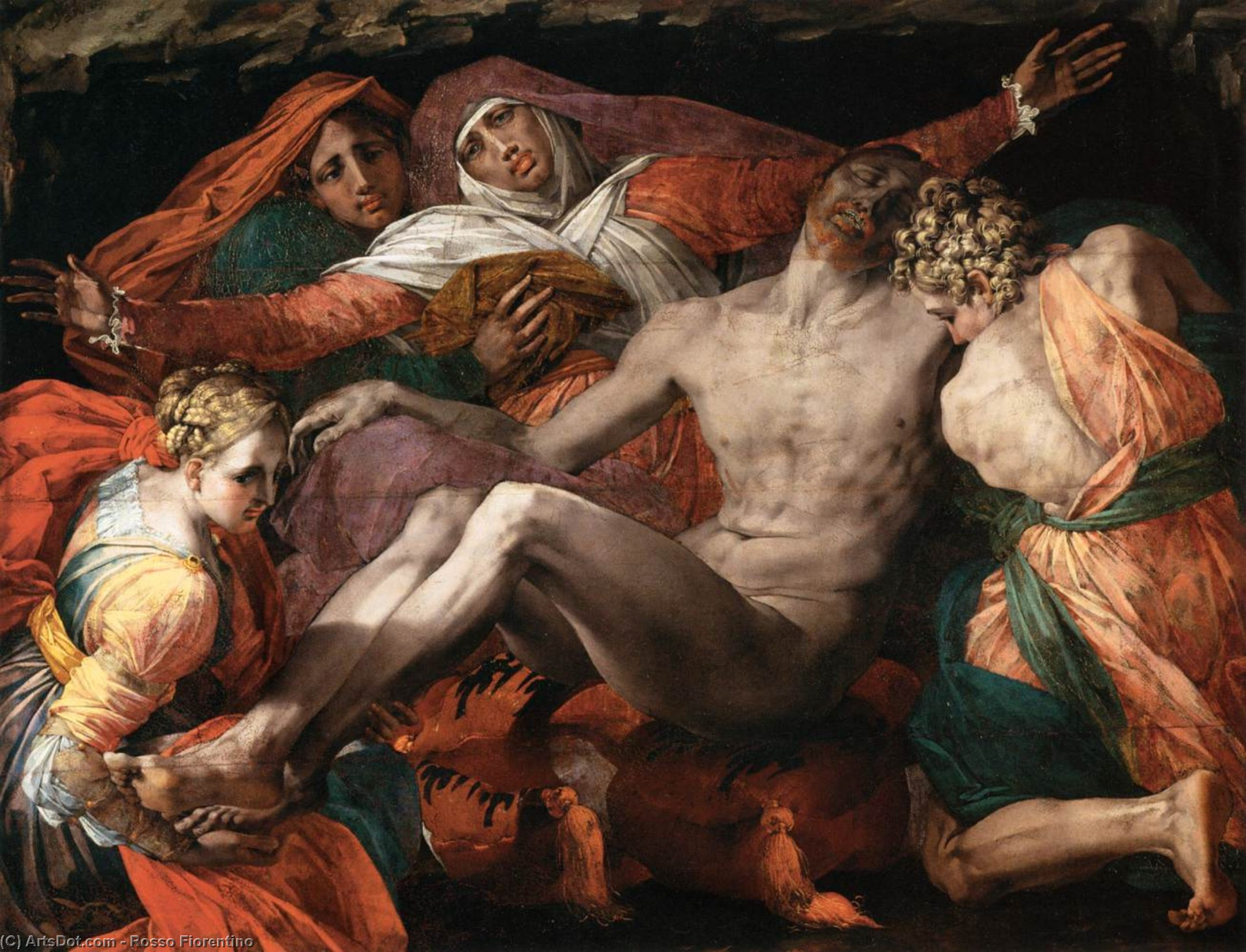 Wikioo.org - The Encyclopedia of Fine Arts - Painting, Artwork by Rosso Fiorentino - Pietà