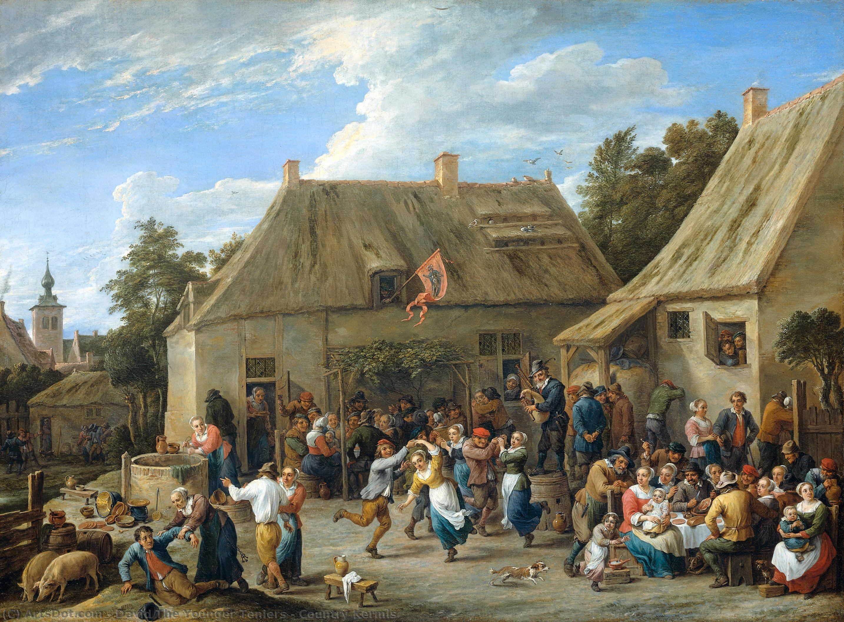 Wikioo.org - The Encyclopedia of Fine Arts - Painting, Artwork by David The Younger Teniers - Country Kermis
