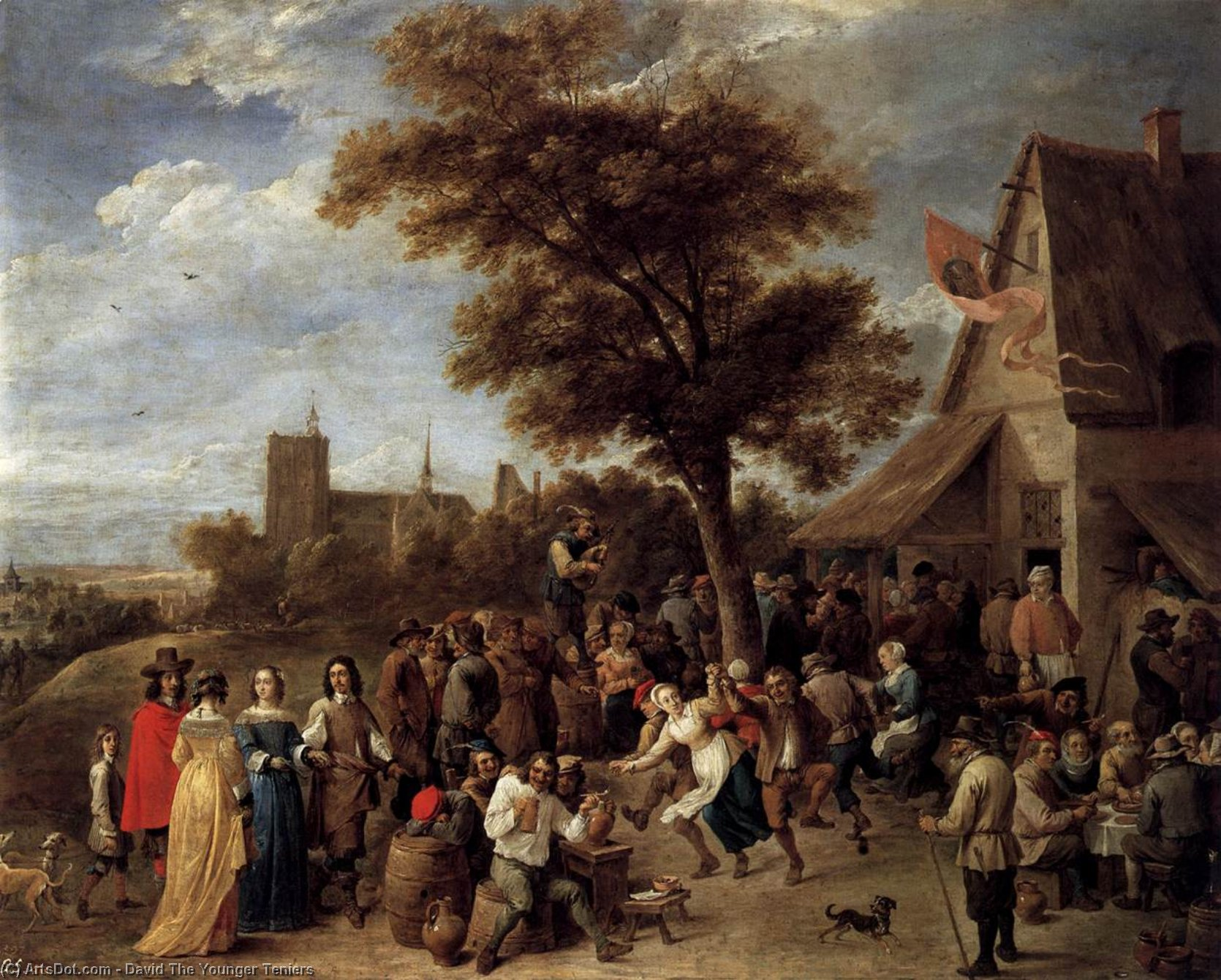 Wikioo.org - The Encyclopedia of Fine Arts - Painting, Artwork by David The Younger Teniers - Peasants Merry-making
