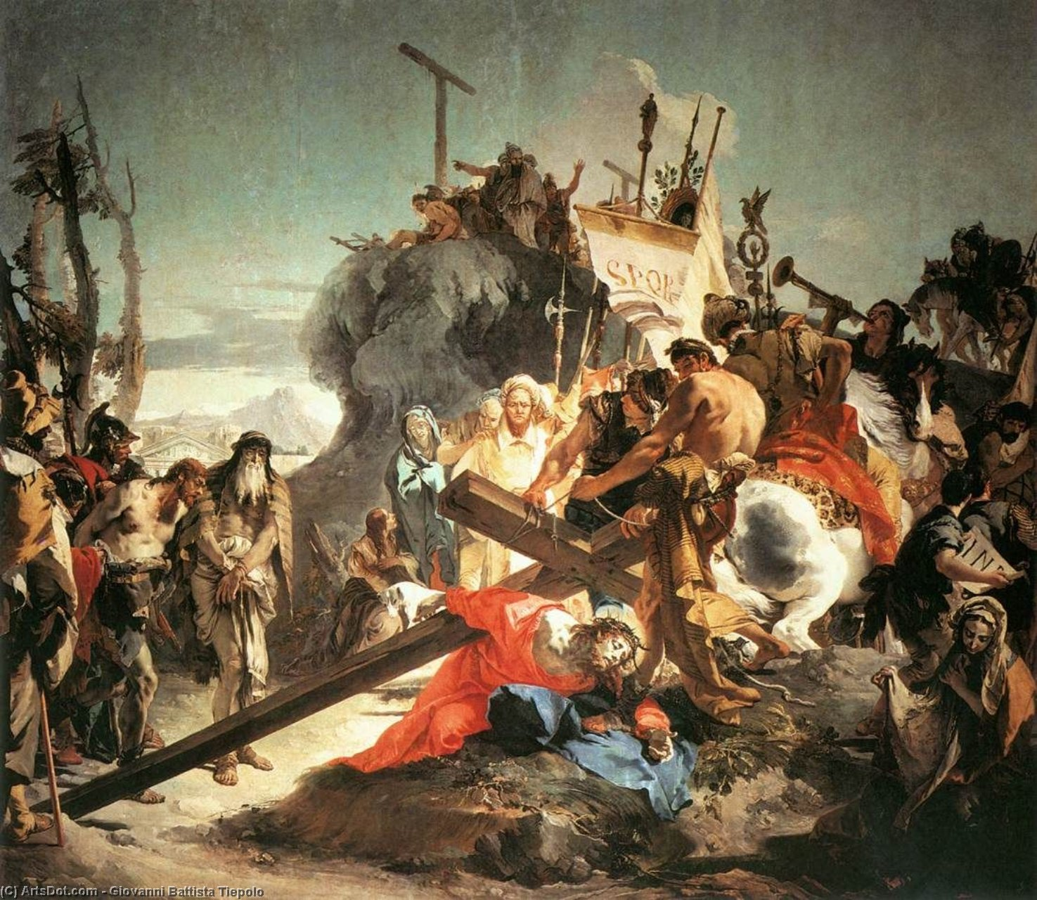 Wikioo.org - The Encyclopedia of Fine Arts - Painting, Artwork by Giovanni Battista Tiepolo - Christ Carrying the Cross