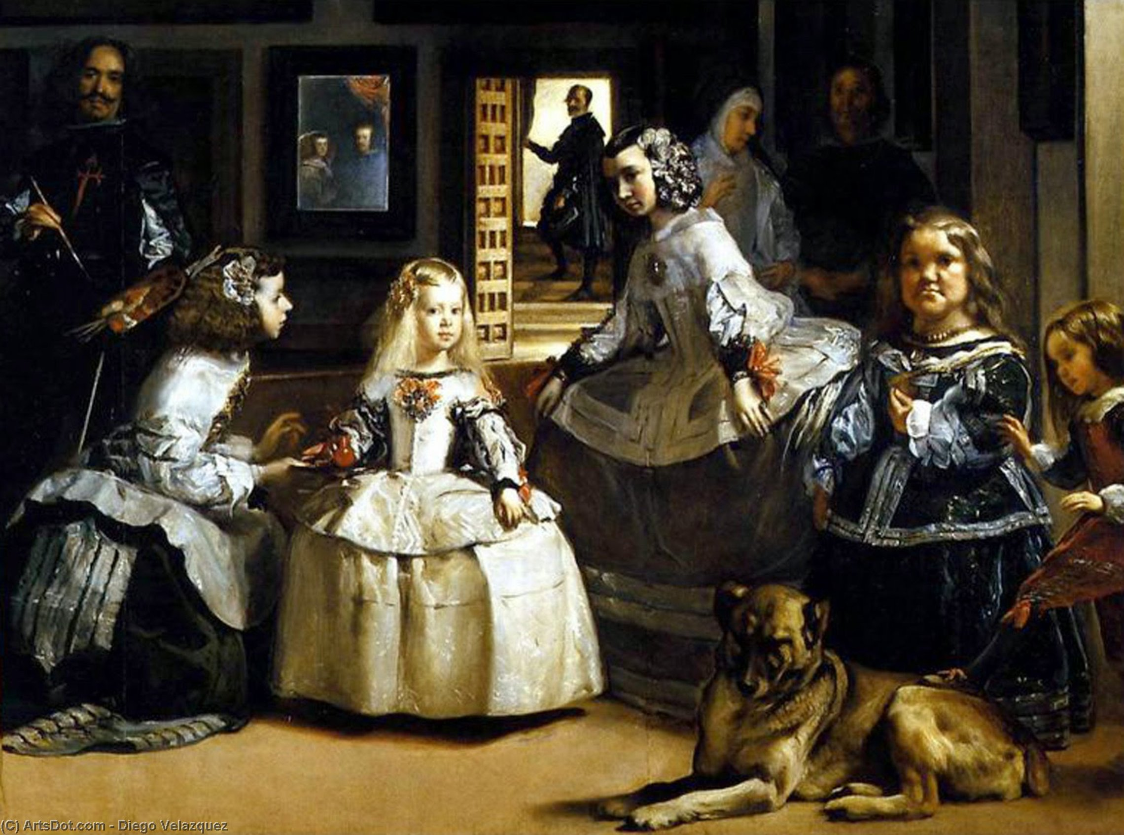 Wikioo.org - The Encyclopedia of Fine Arts - Painting, Artwork by Diego Velazquez - Las Meninas (detail)