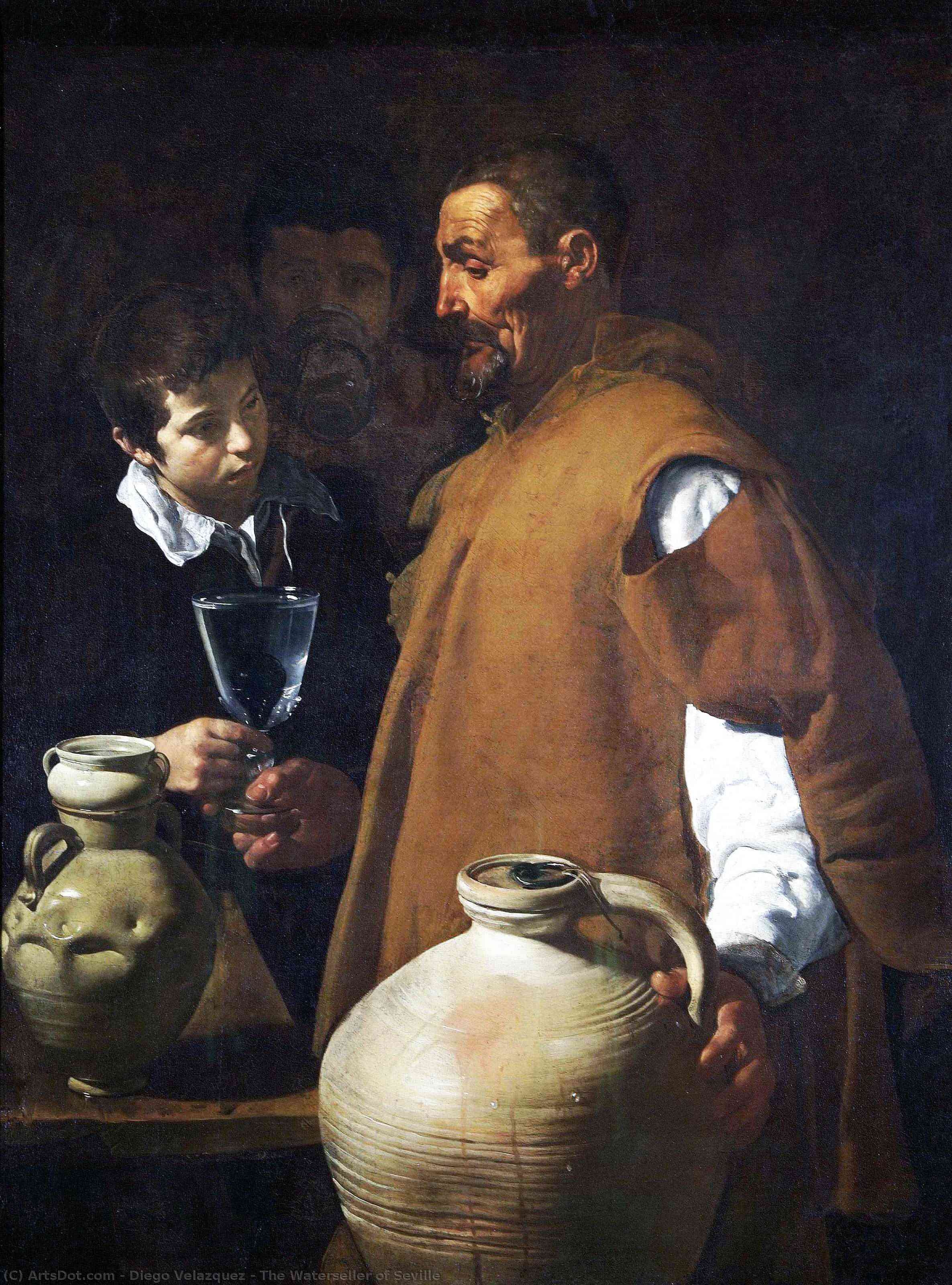 Wikioo.org - The Encyclopedia of Fine Arts - Painting, Artwork by Diego Velazquez - The Waterseller of Seville