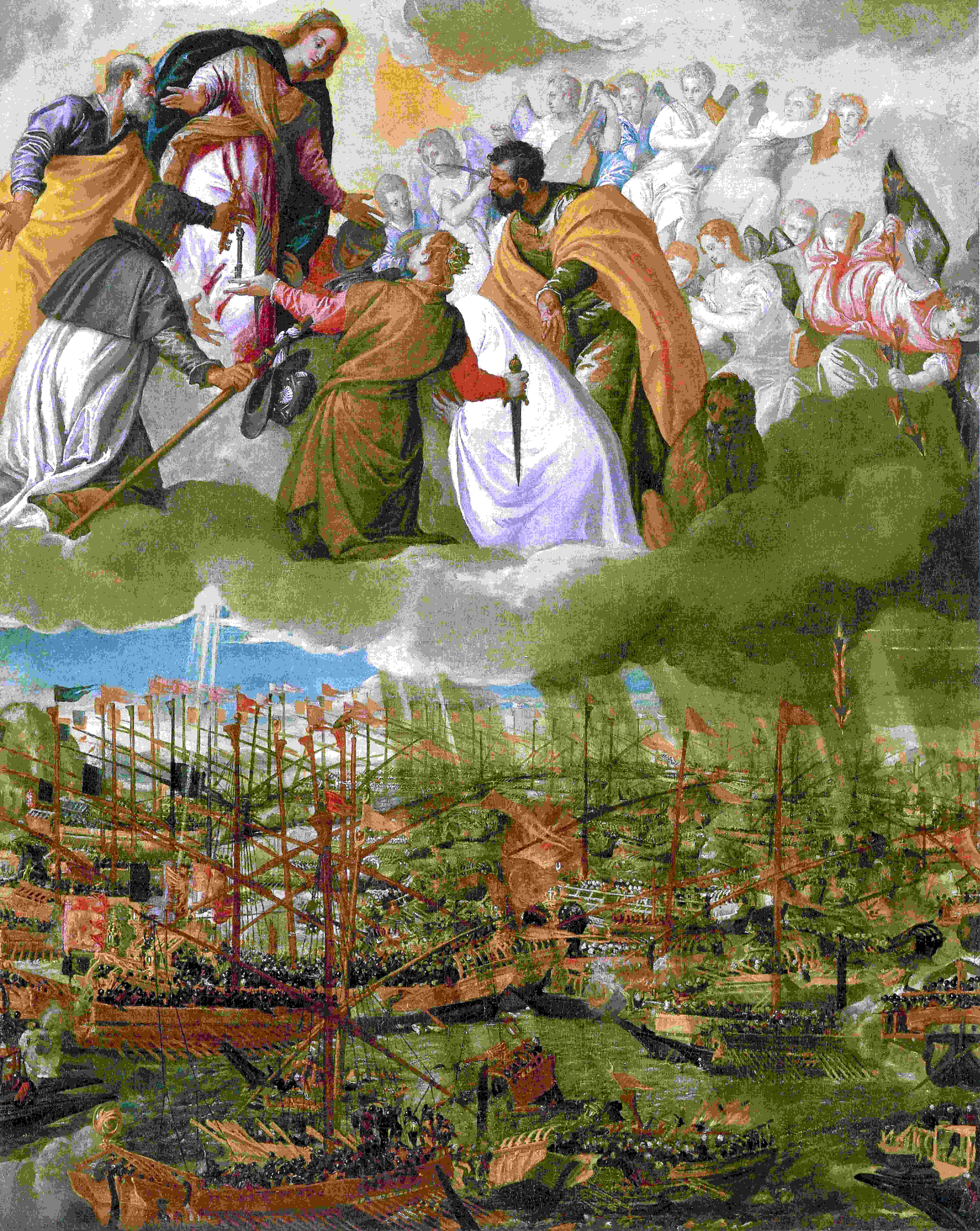 Wikioo.org - The Encyclopedia of Fine Arts - Painting, Artwork by Paolo Veronese - Battle of Lepanto